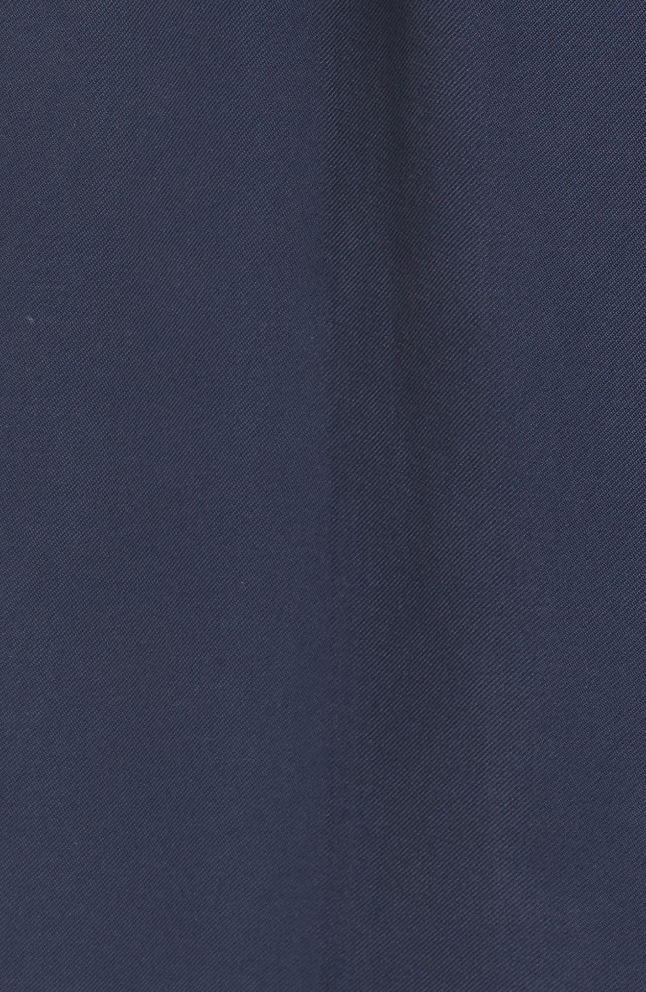 Long Drapey Trench Coat,                             Alternate thumbnail 5, color,                             Navy