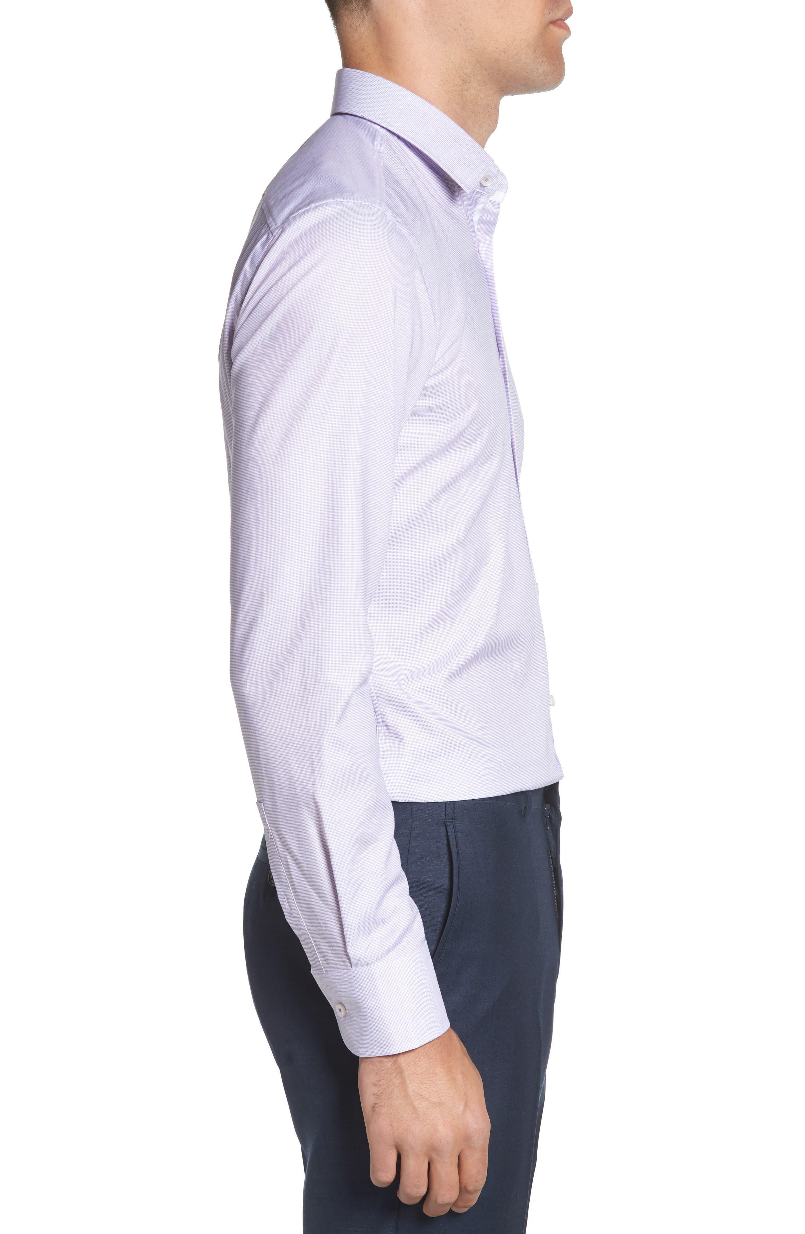 Jesse Slim Fit Dress Shirt,                             Alternate thumbnail 4, color,                             Purple