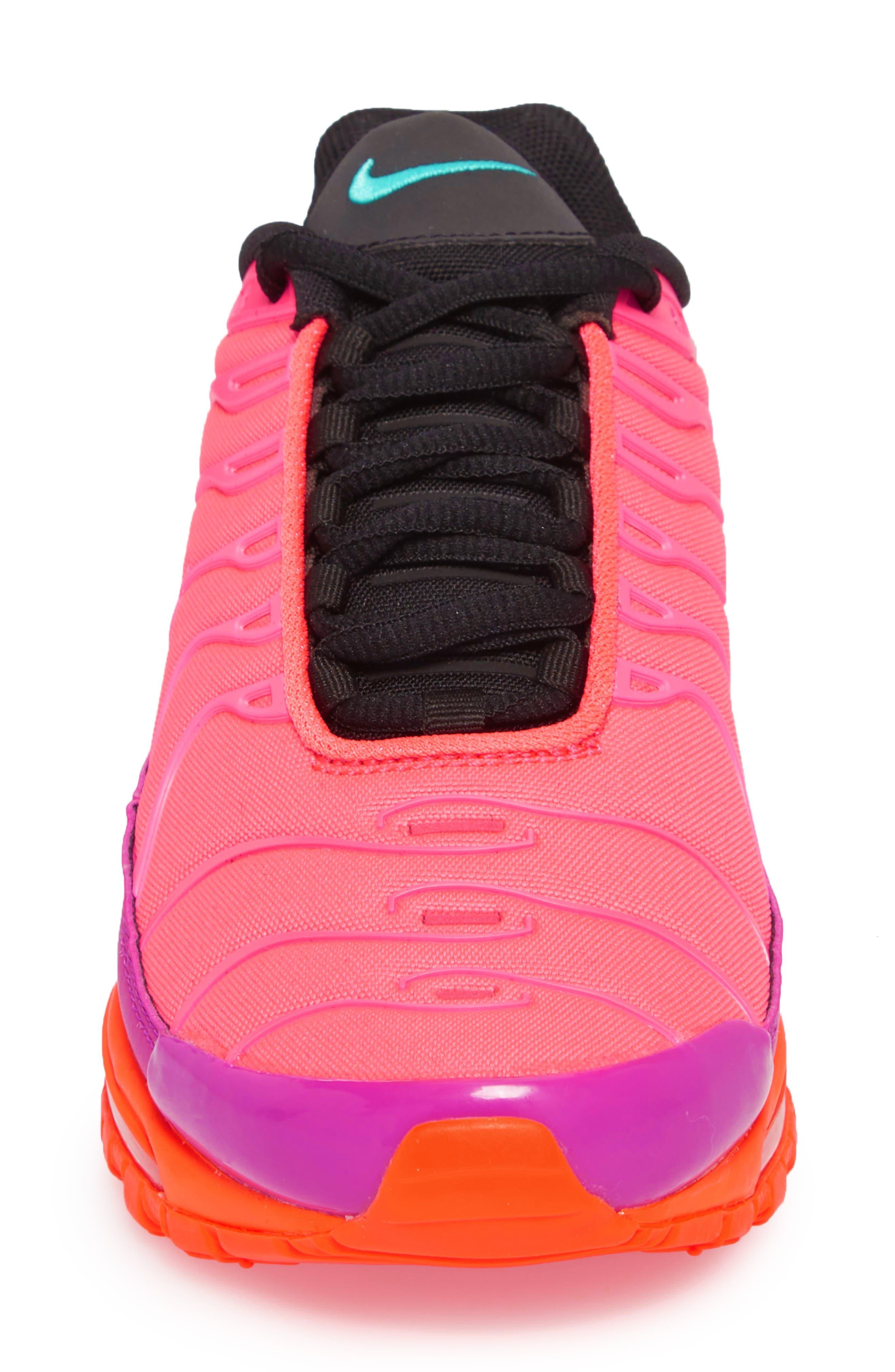Air Max 97 Plus Sneaker,                             Alternate thumbnail 4, color,                             Racer Pink/ Magenta/ Crimson