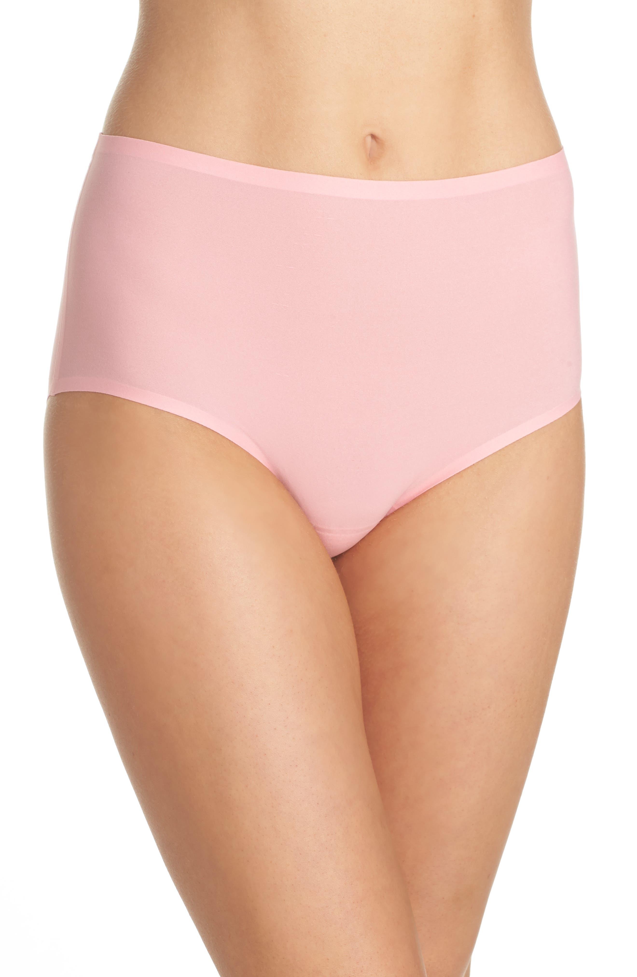 Soft Stretch High Waist Seamless Briefs,                         Main,                         color, Pink Lemonade