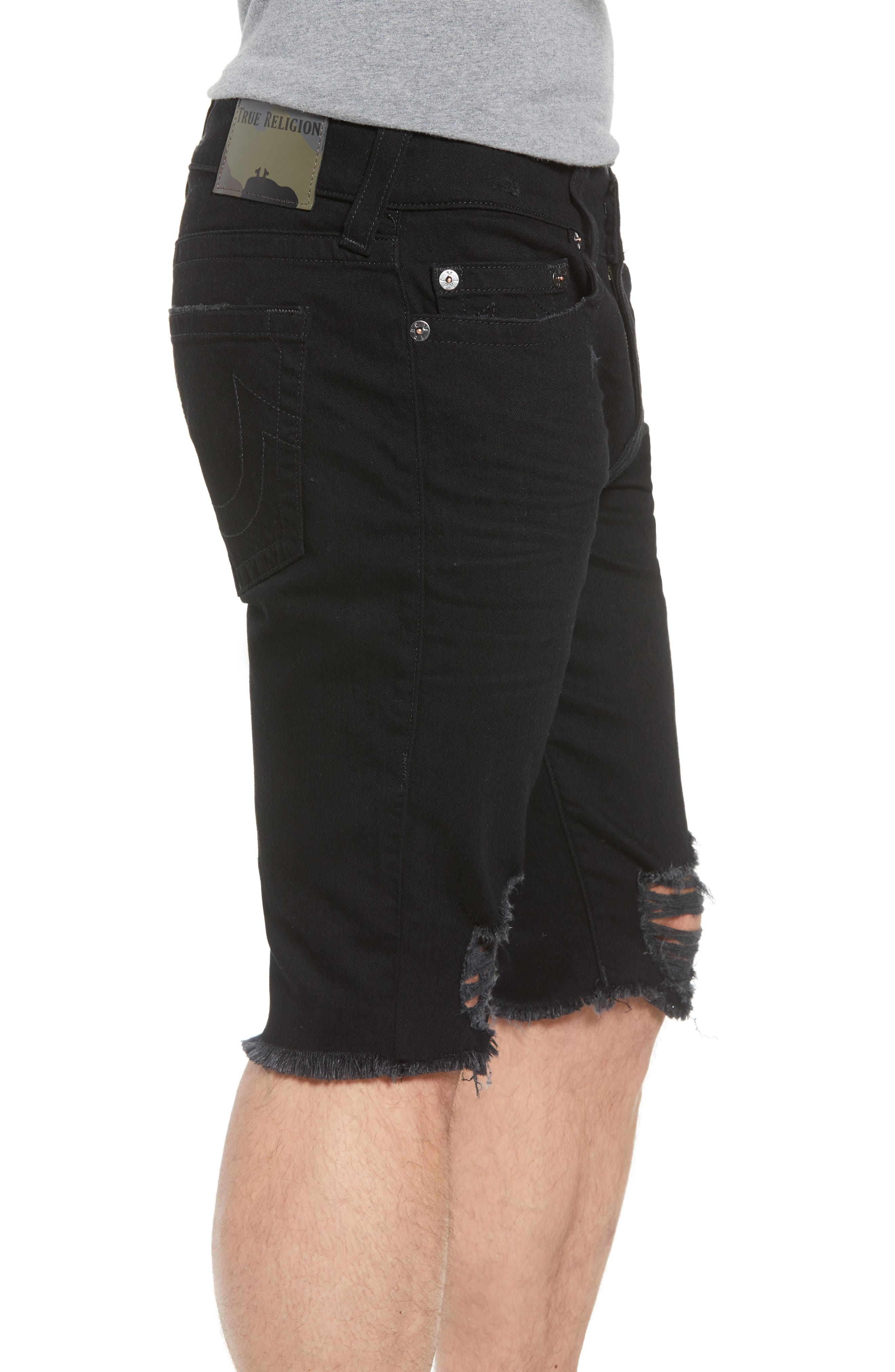 Ricky Relaxed Fit Shorts,                             Alternate thumbnail 3, color,                             Chalkboard