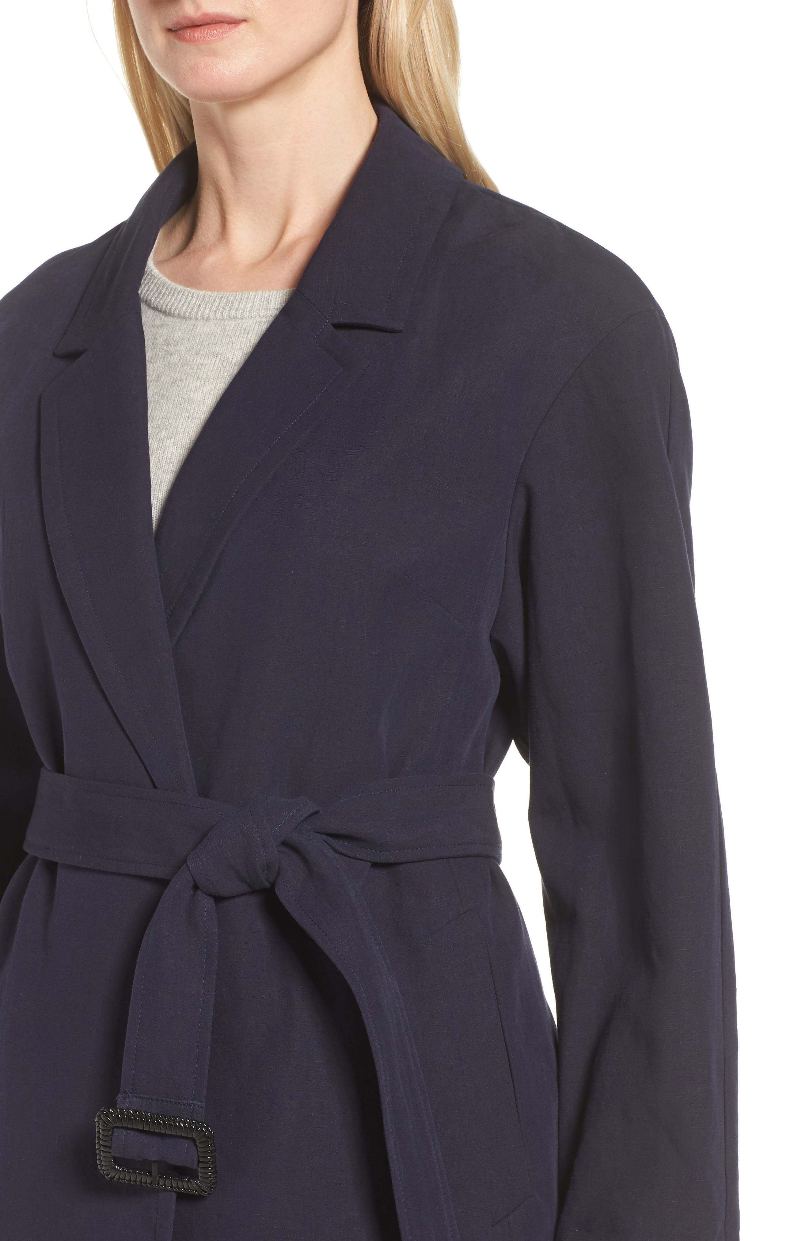 Alternate Image 4  - Cole Haan Double Face Wrap Maxi Jacket