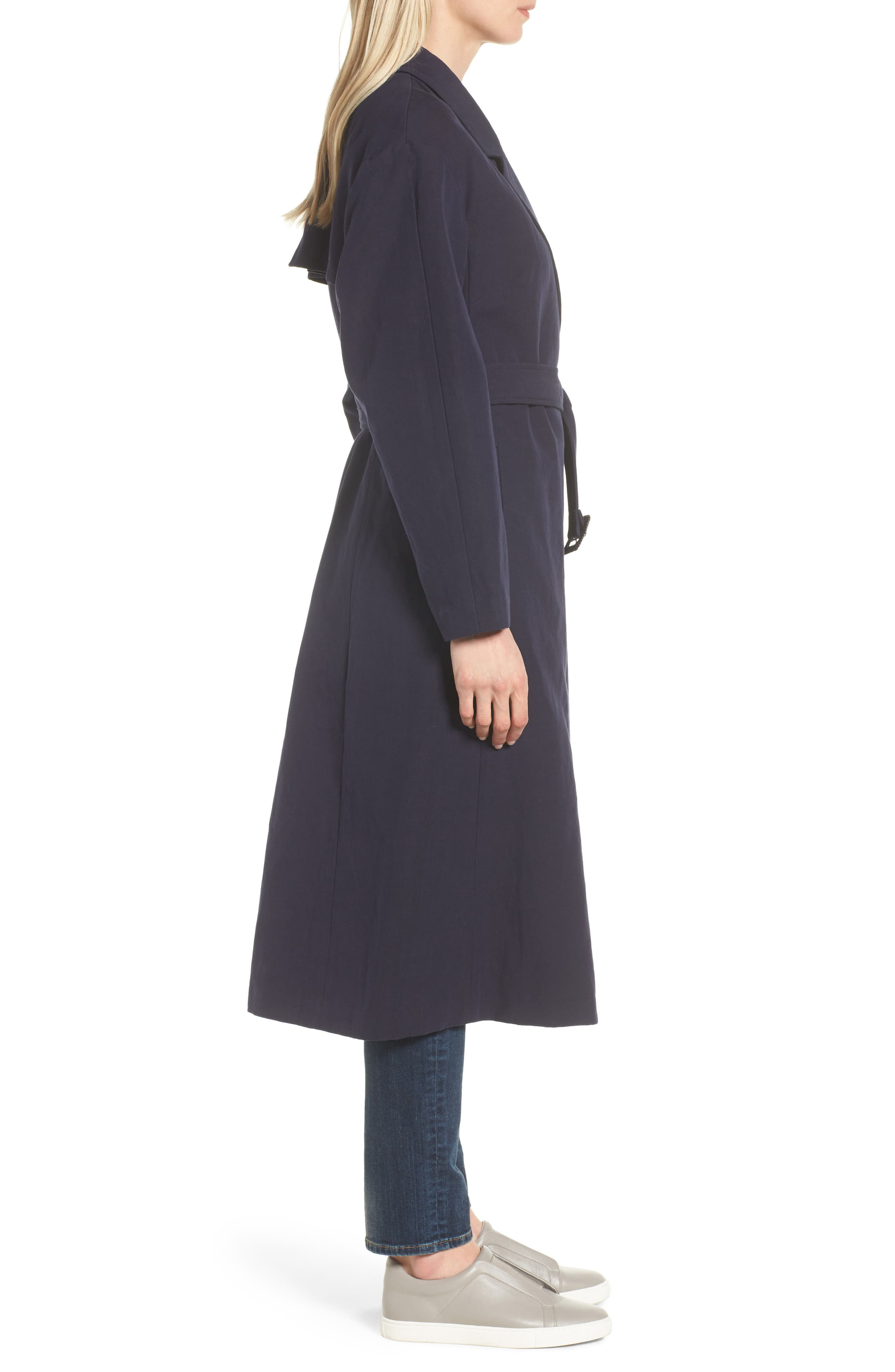 Alternate Image 3  - Cole Haan Double Face Wrap Maxi Jacket