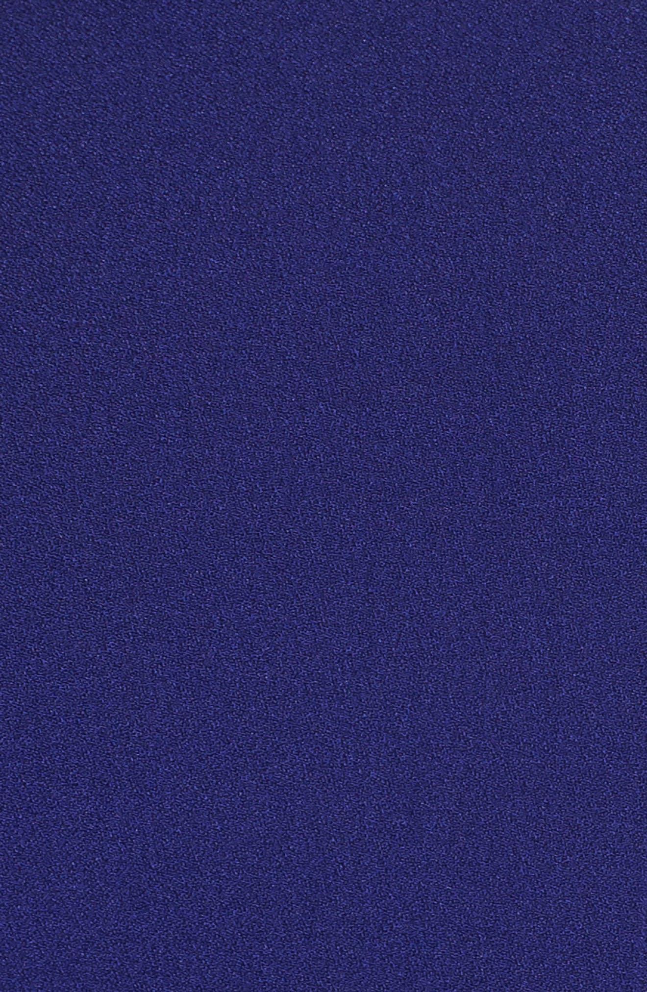 Tie-Shoulder Fit & Flare Dress,                             Alternate thumbnail 6, color,                             Cobalt
