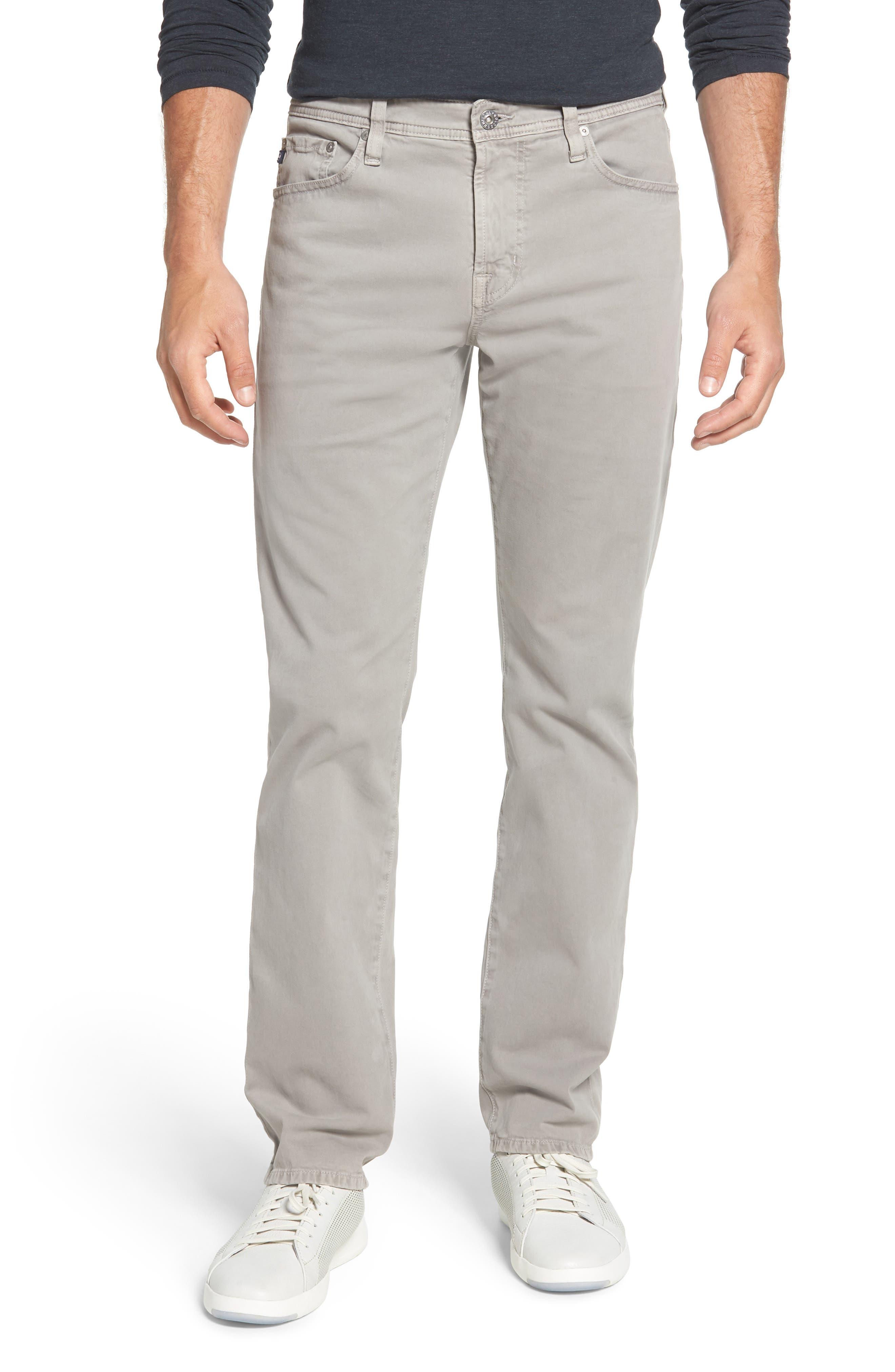Everett SUD Slim Straight Fit Pants,                         Main,                         color, Sulfur Platinum