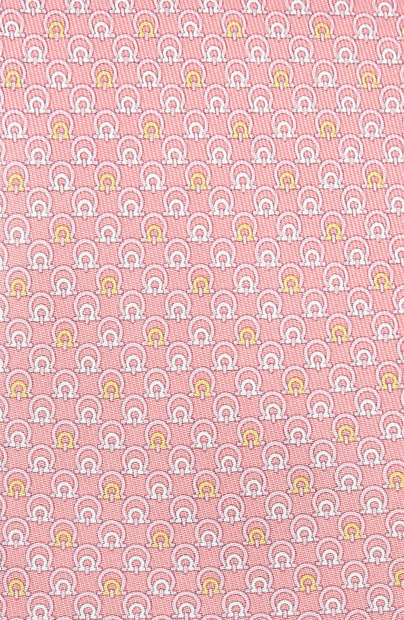 Estro Print Silk Tie,                             Alternate thumbnail 2, color,                             Pink