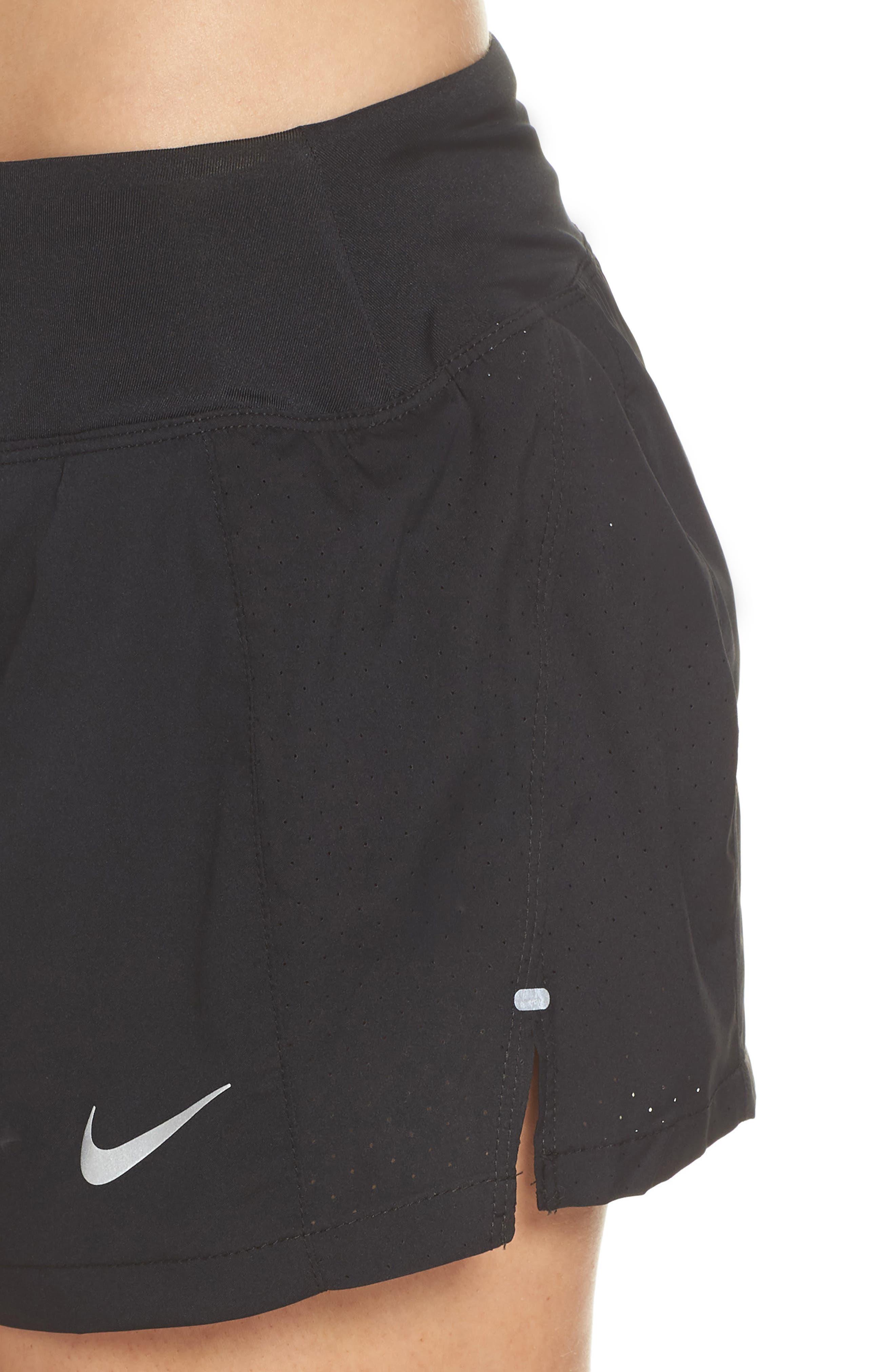 Dry Eclipse Running Shorts,                             Alternate thumbnail 4, color,                             Black