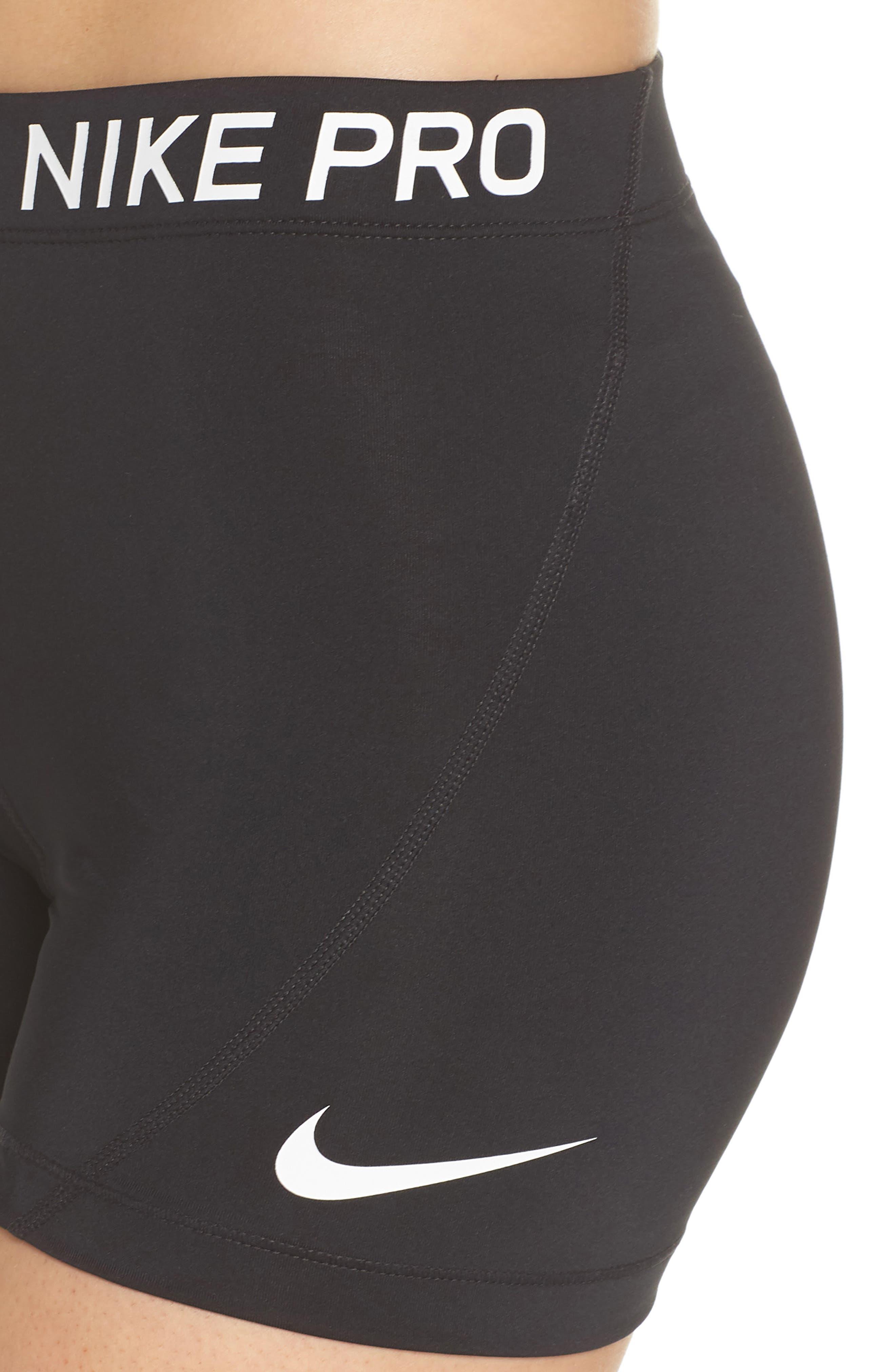 Pro Short Shorts,                             Alternate thumbnail 4, color,                             Black/ White