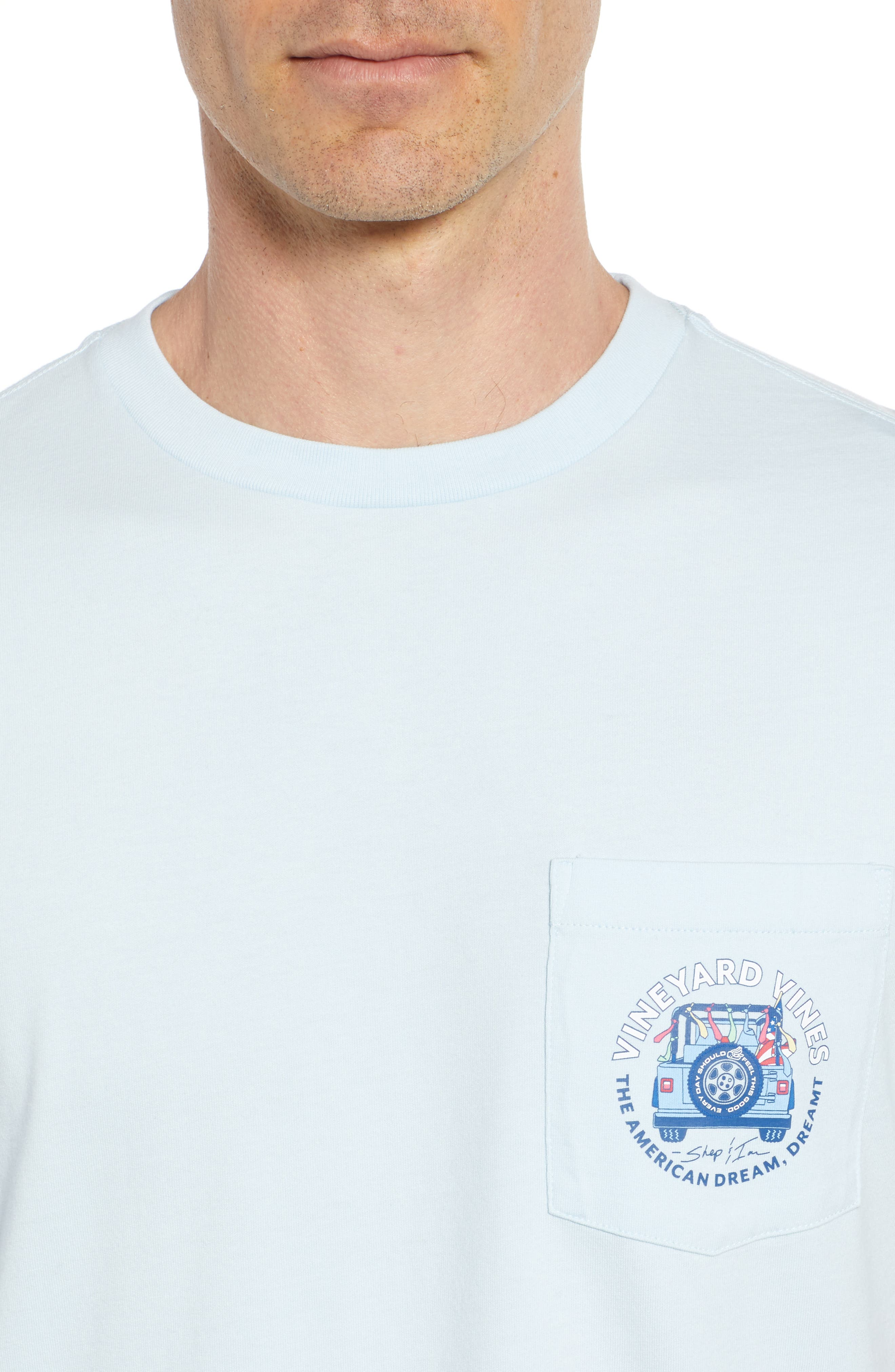 American Dream Logo T-Shirt,                             Alternate thumbnail 4, color,                             Surf Blue