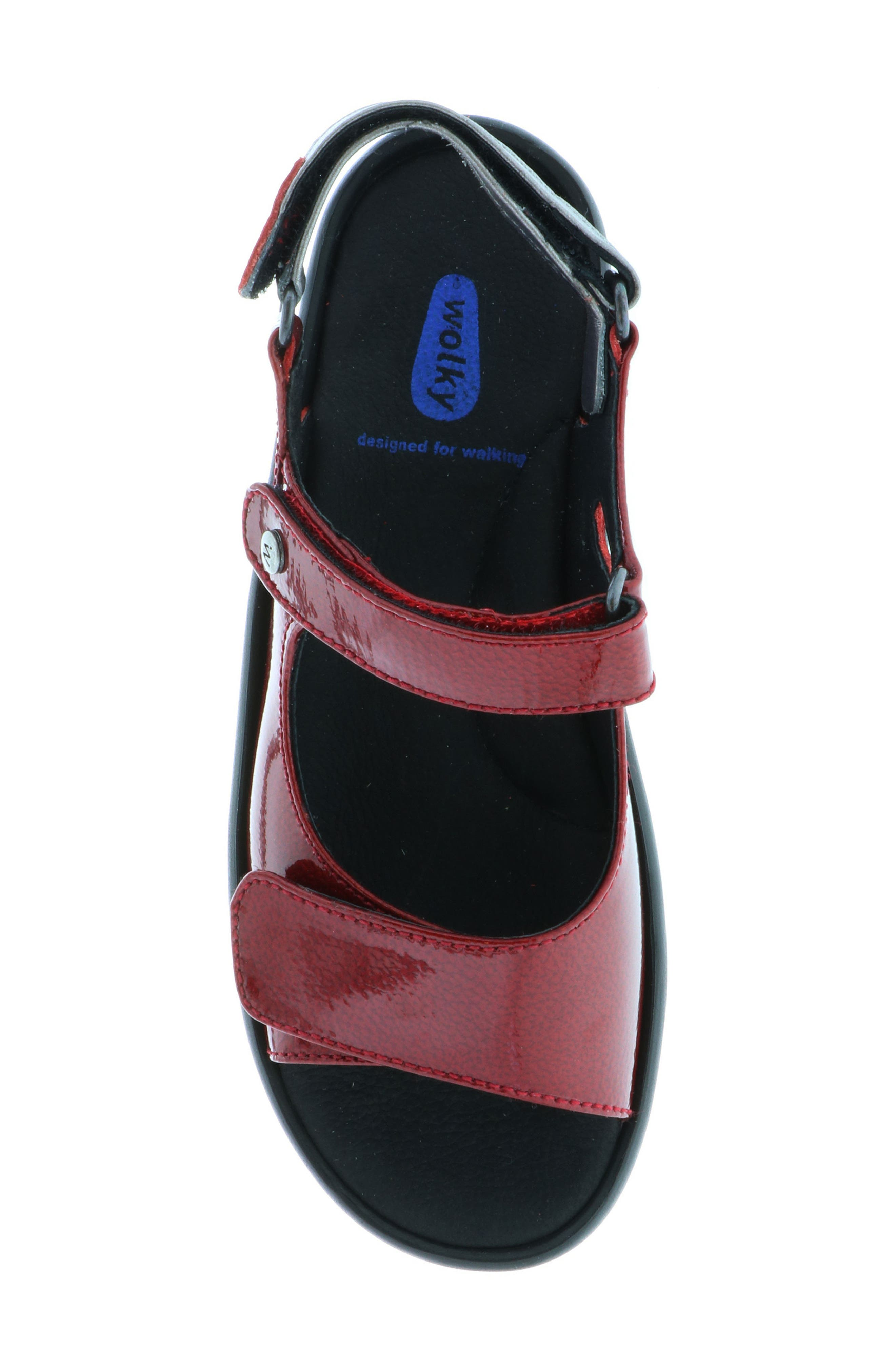 Rio Sandal,                             Alternate thumbnail 4, color,                             Red Patent Leather
