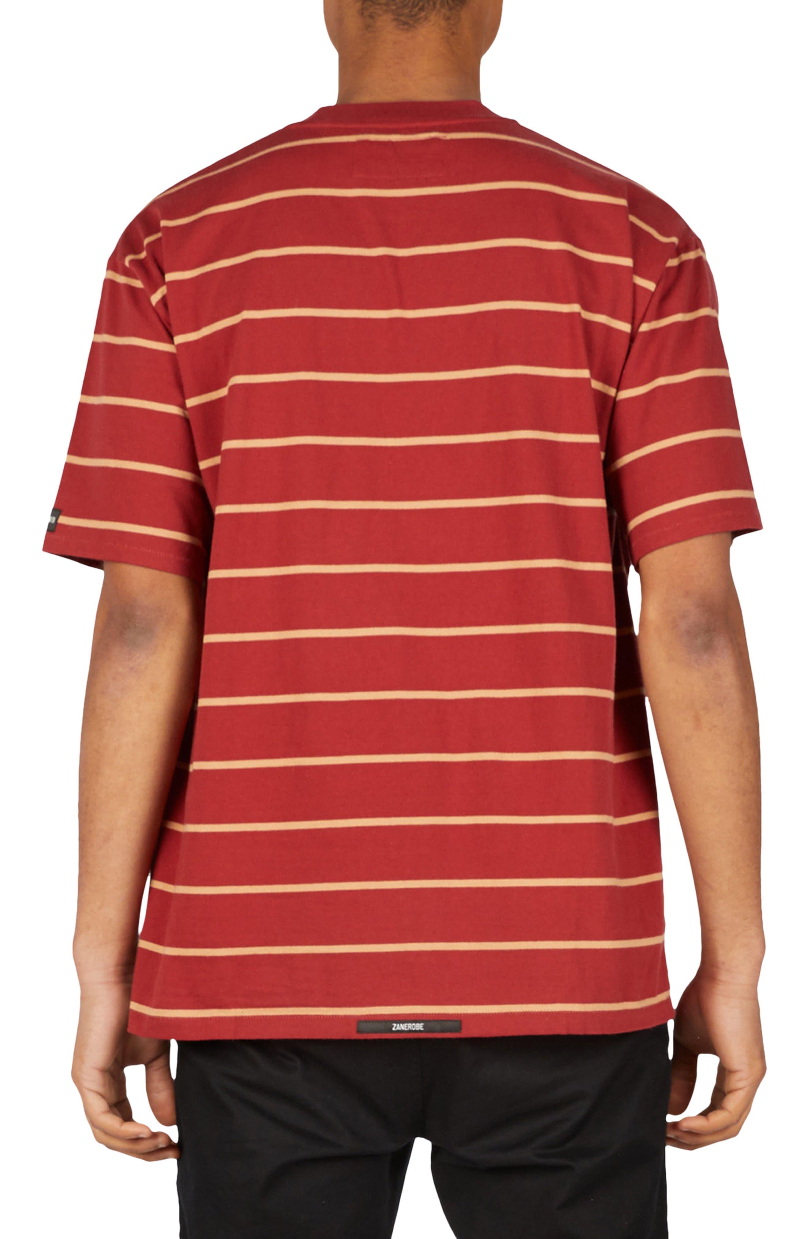 Stripe Box T-Shirt,                             Alternate thumbnail 2, color,                             Dark Cherry/ Biscuit