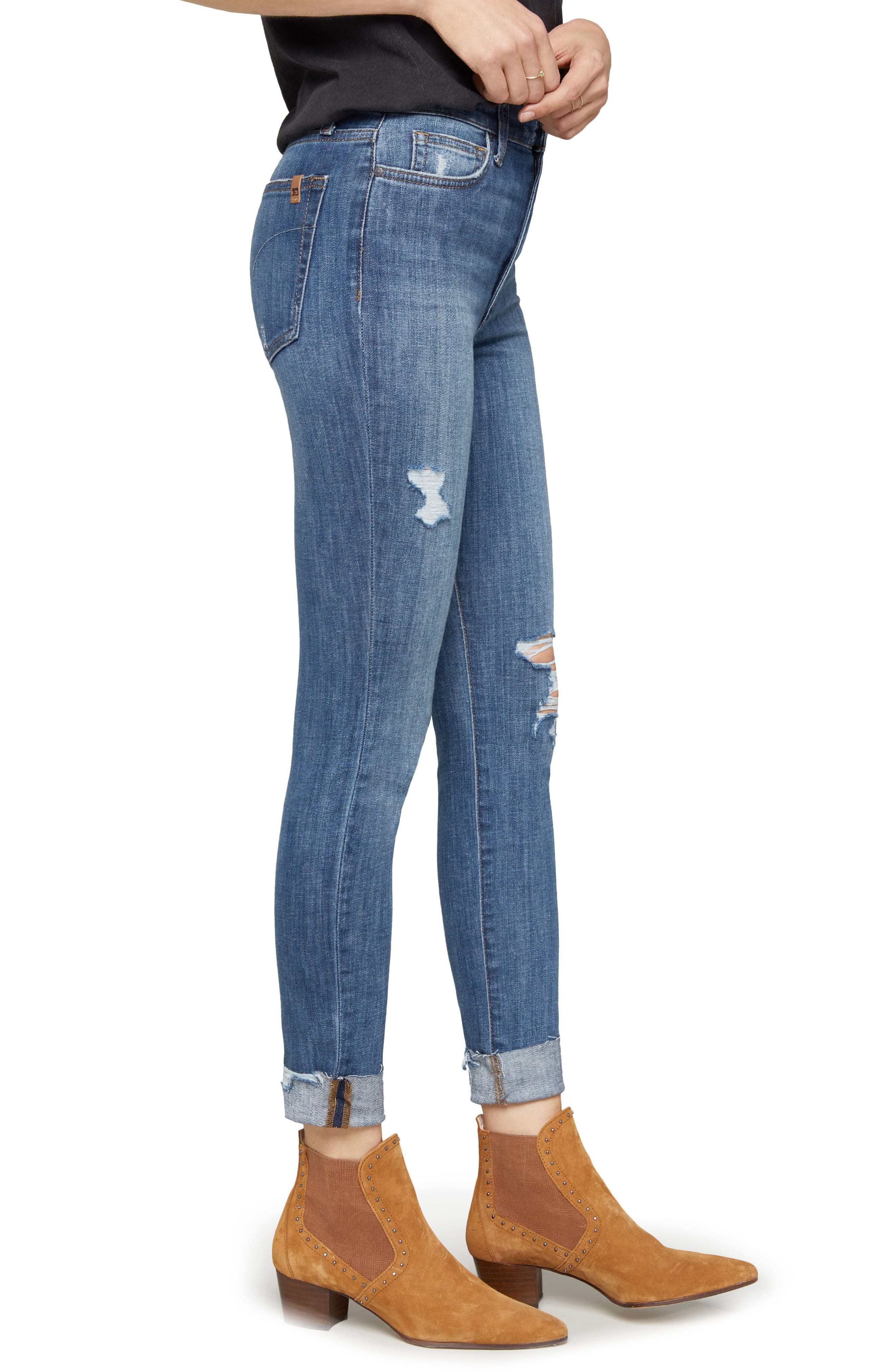 Charlie Crop Ripped Skinny Jeans,                             Alternate thumbnail 3, color,                             Leor