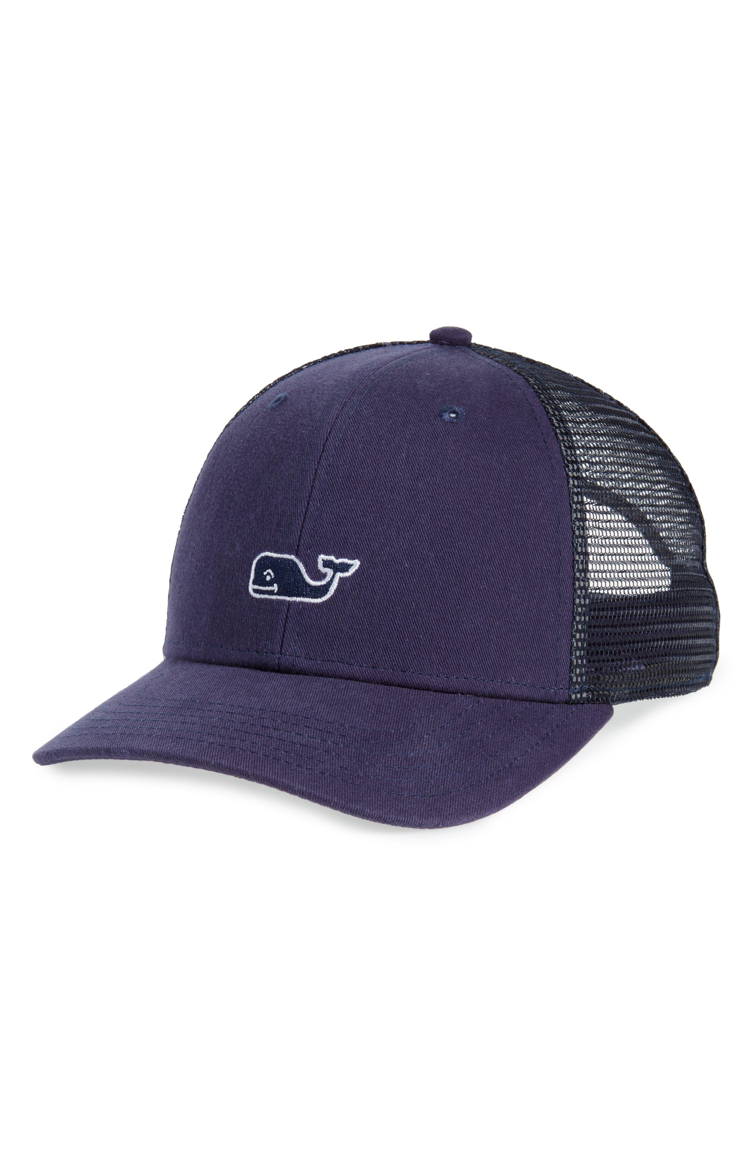 High Profile Trucker Hat,                             Main thumbnail 1, color,                             Deep Bay