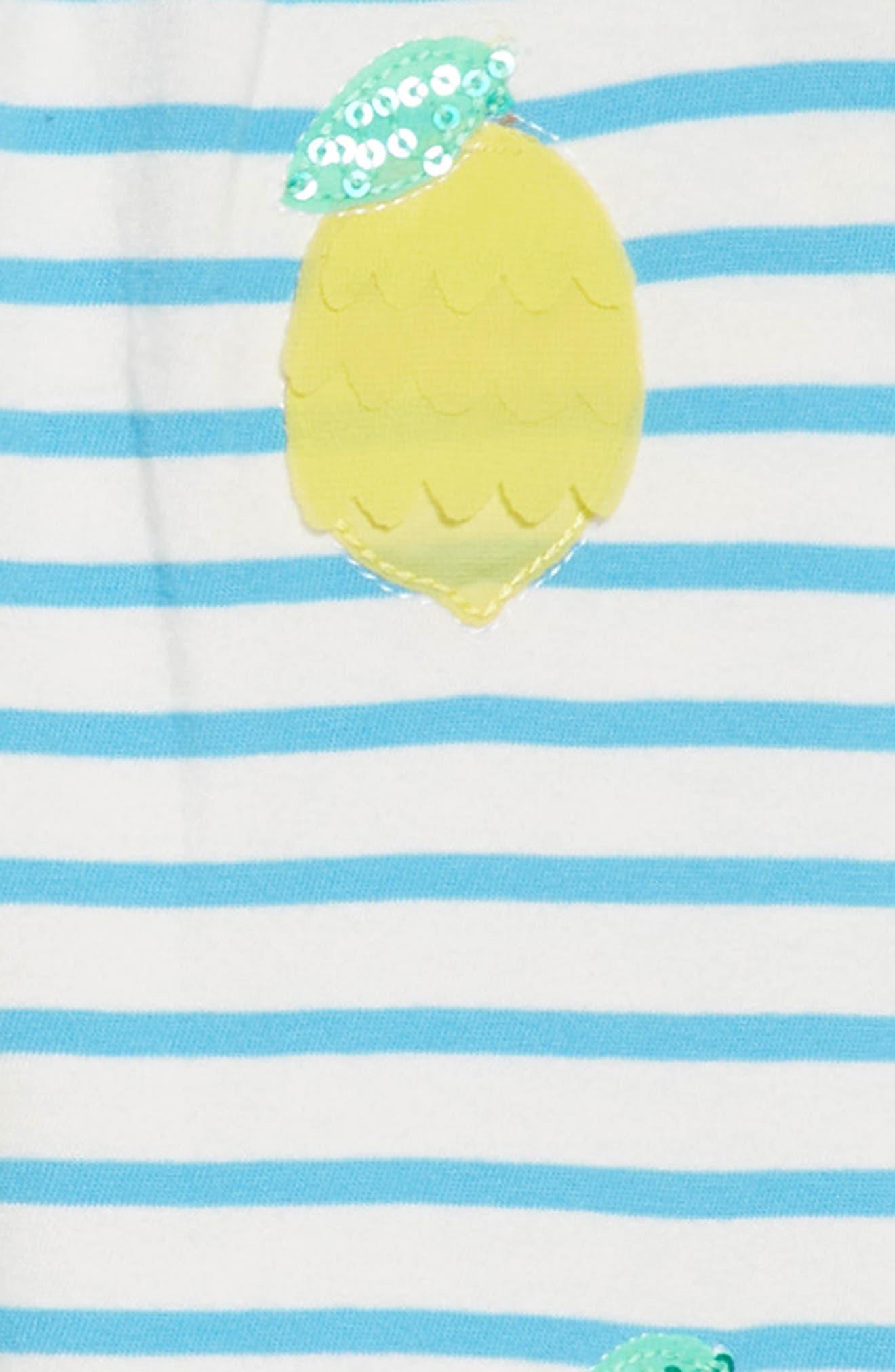 Jersey Sequin Sundress,                             Alternate thumbnail 3, color,                             Ivory/ Penzance Blue Nav