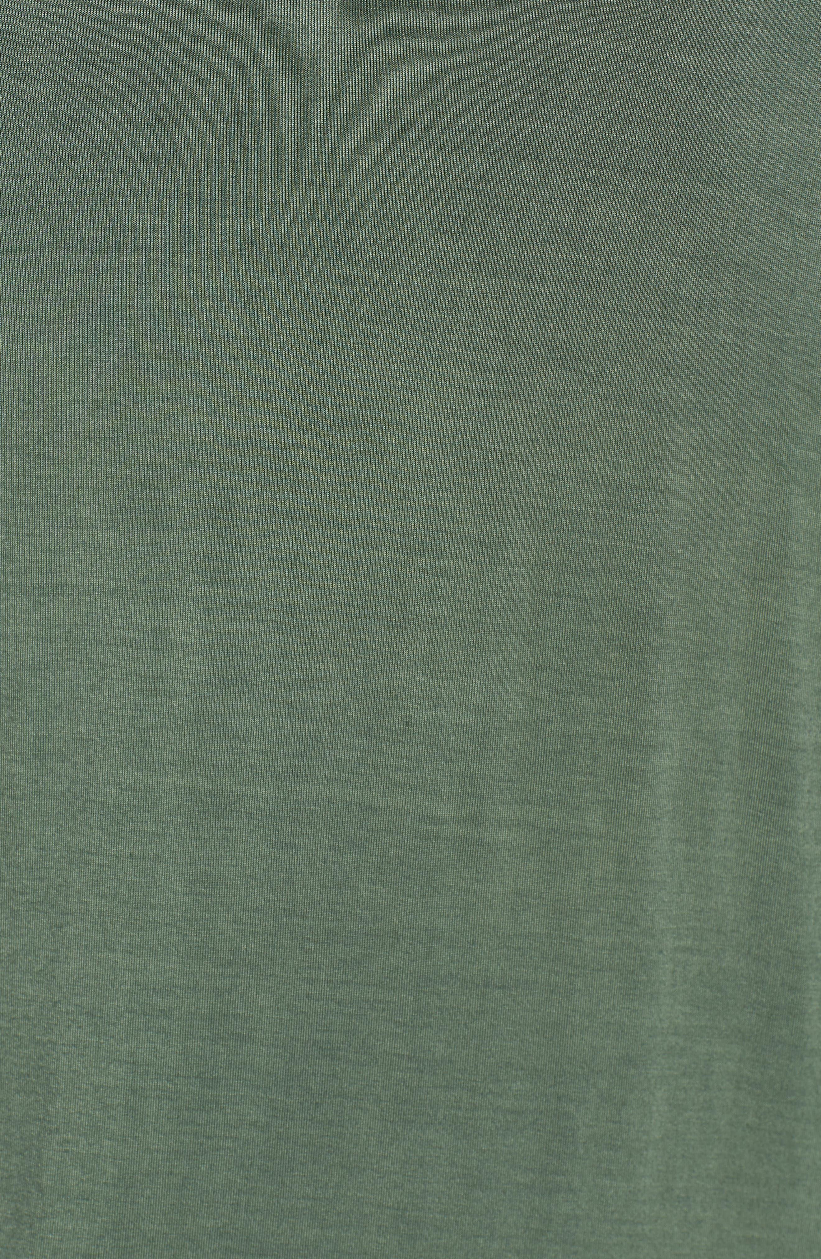 Off-Duty Long Convertible Cardigan,                             Alternate thumbnail 5, color,                             Green Duck
