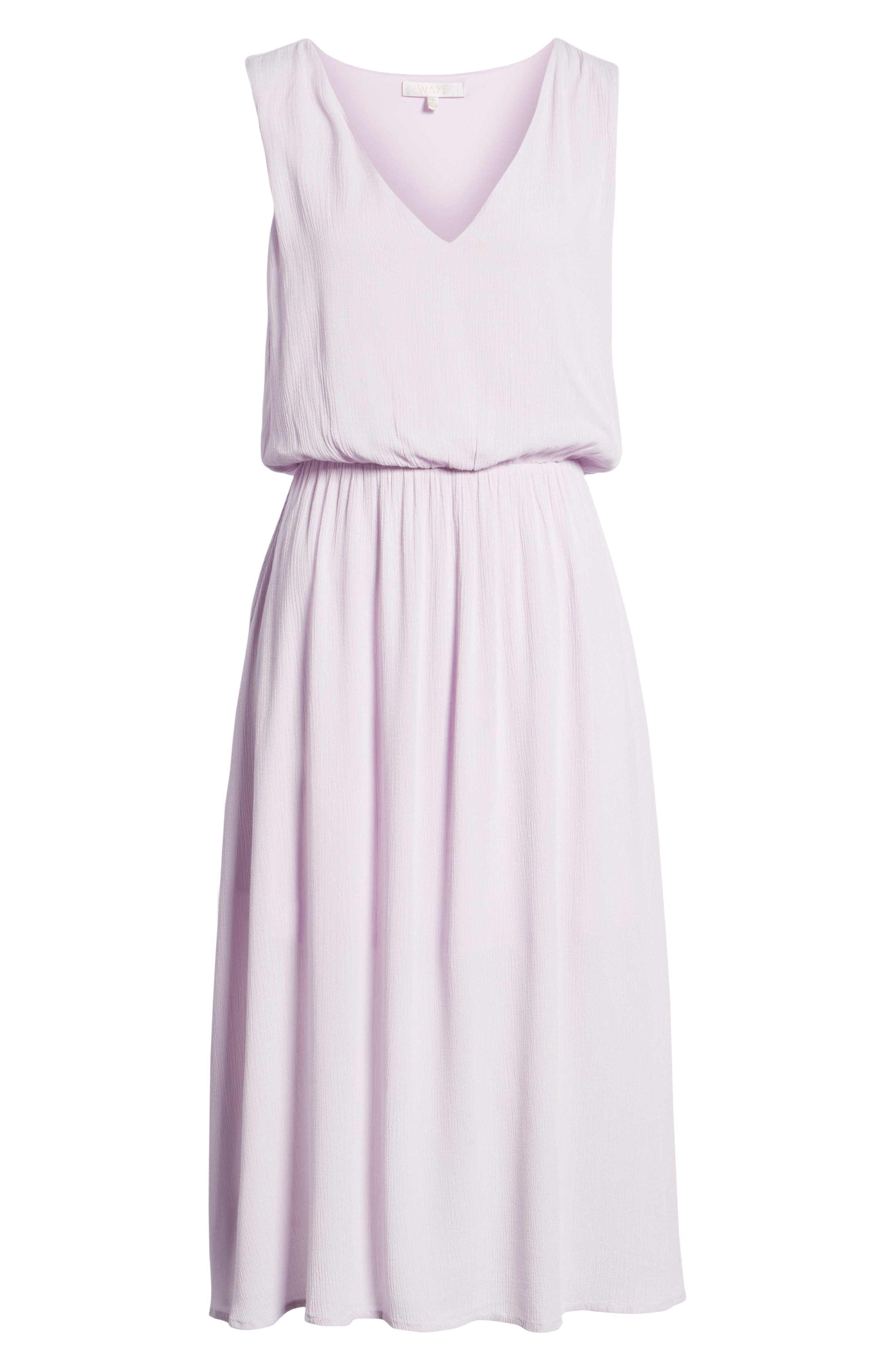 Sleeveless Blouson Midi Dress,                             Alternate thumbnail 7, color,                             Purple Moss