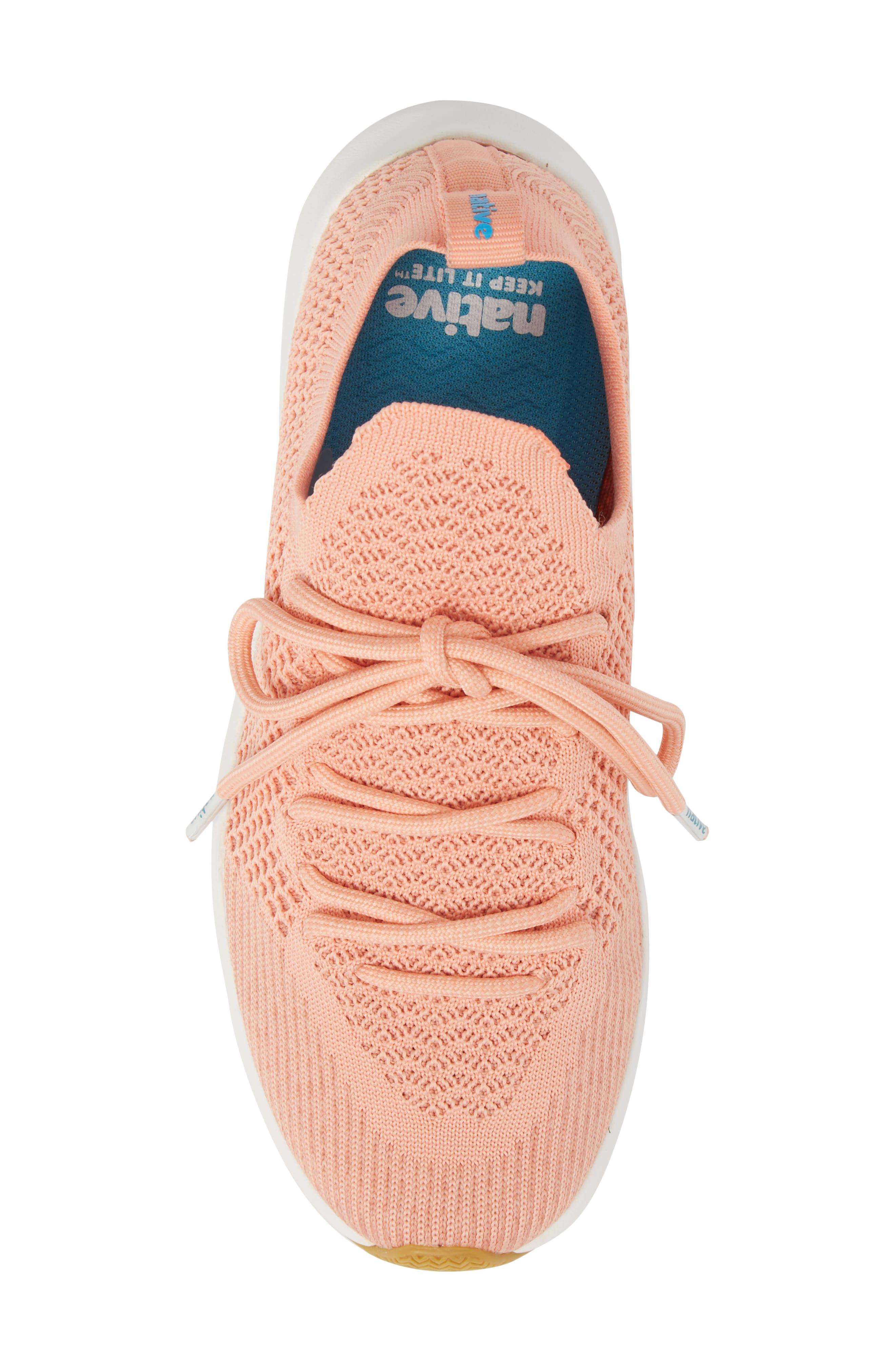AP Mercury Liteknit Sneaker,                             Alternate thumbnail 5, color,                             Clay Pink/ Shell White