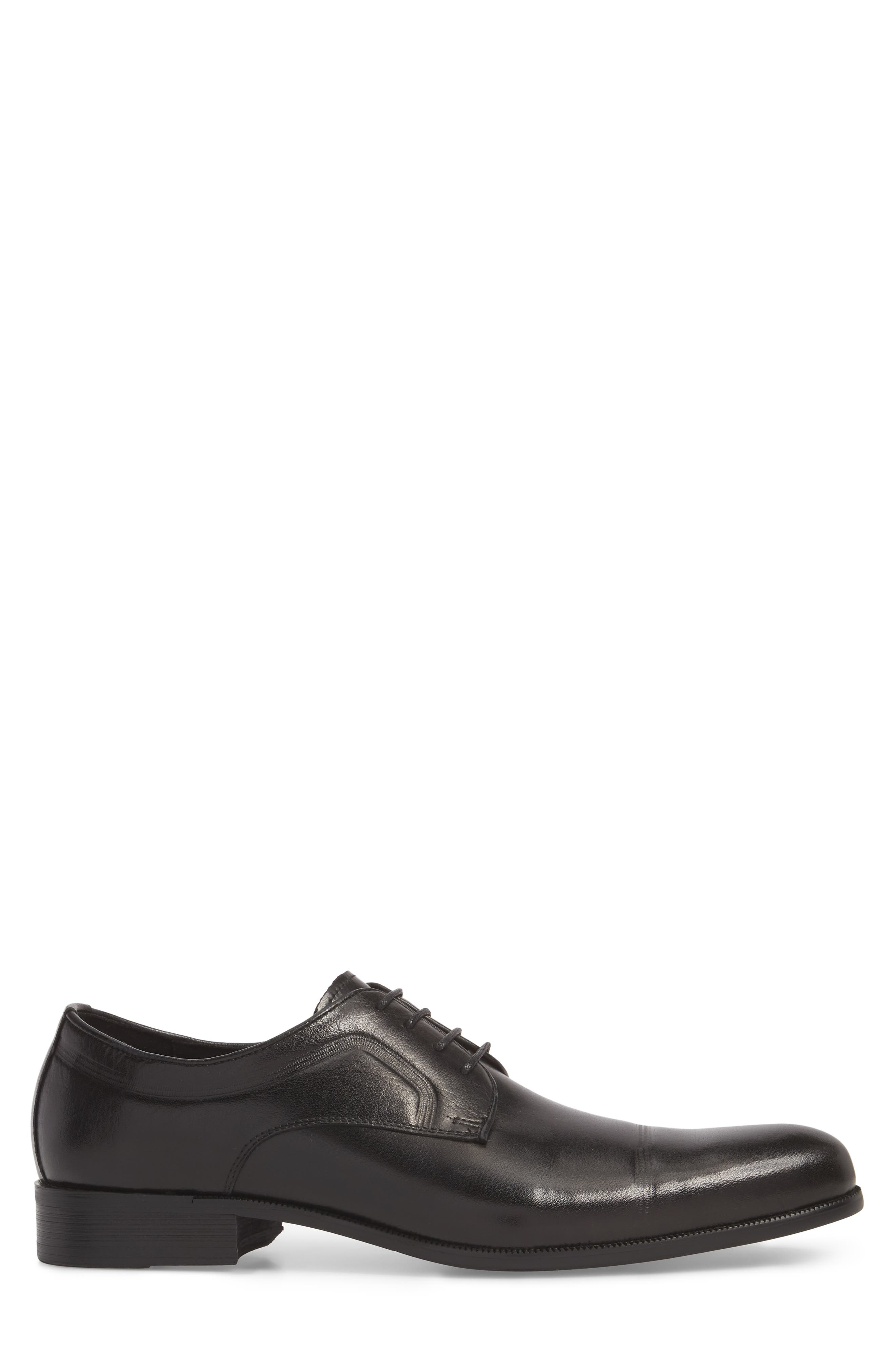 Chief Cap Toe Derby,                             Alternate thumbnail 3, color,                             Black Leather