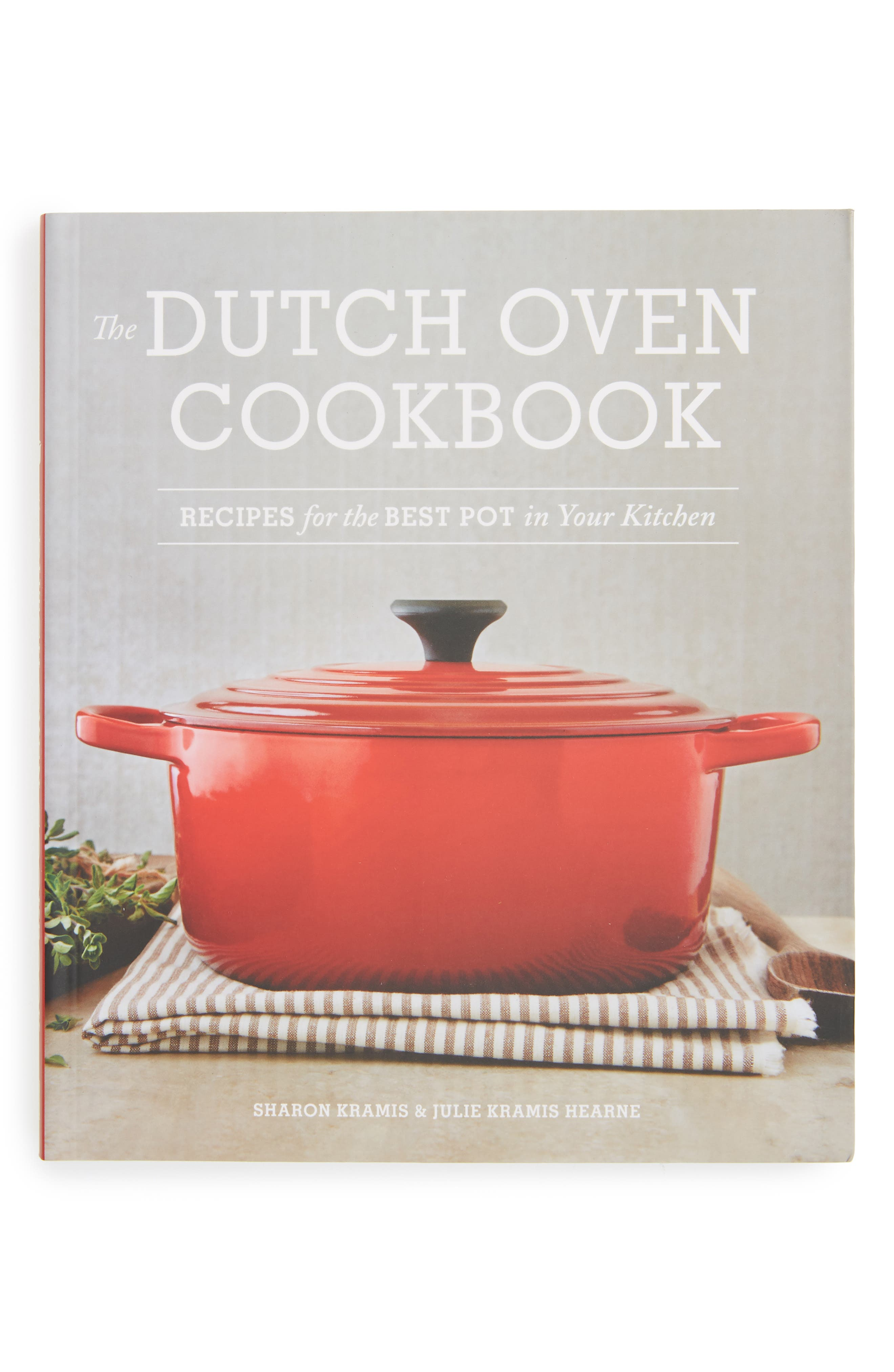 'The Dutch Oven Cookbook' Book,                             Main thumbnail 1, color,                             Red