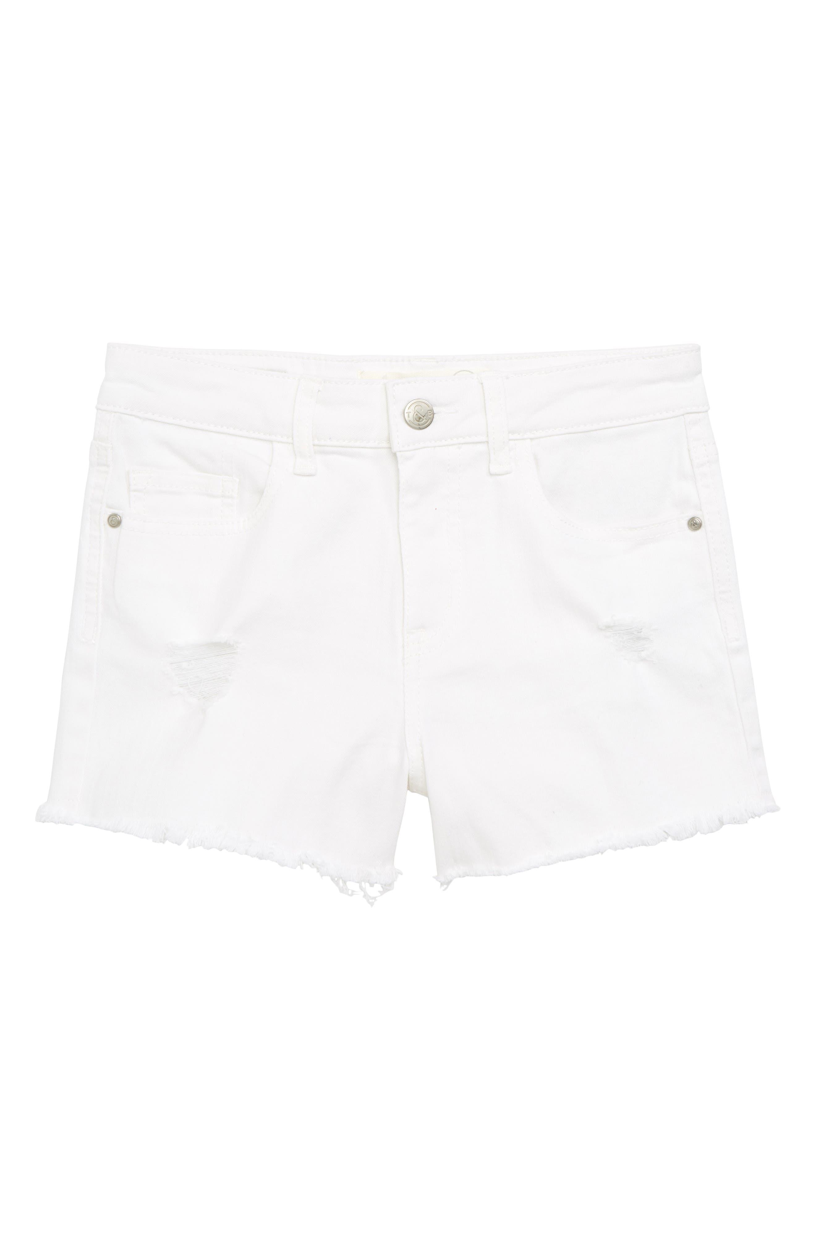 Treasure & Bond Distressed Cutoff Denim Shorts