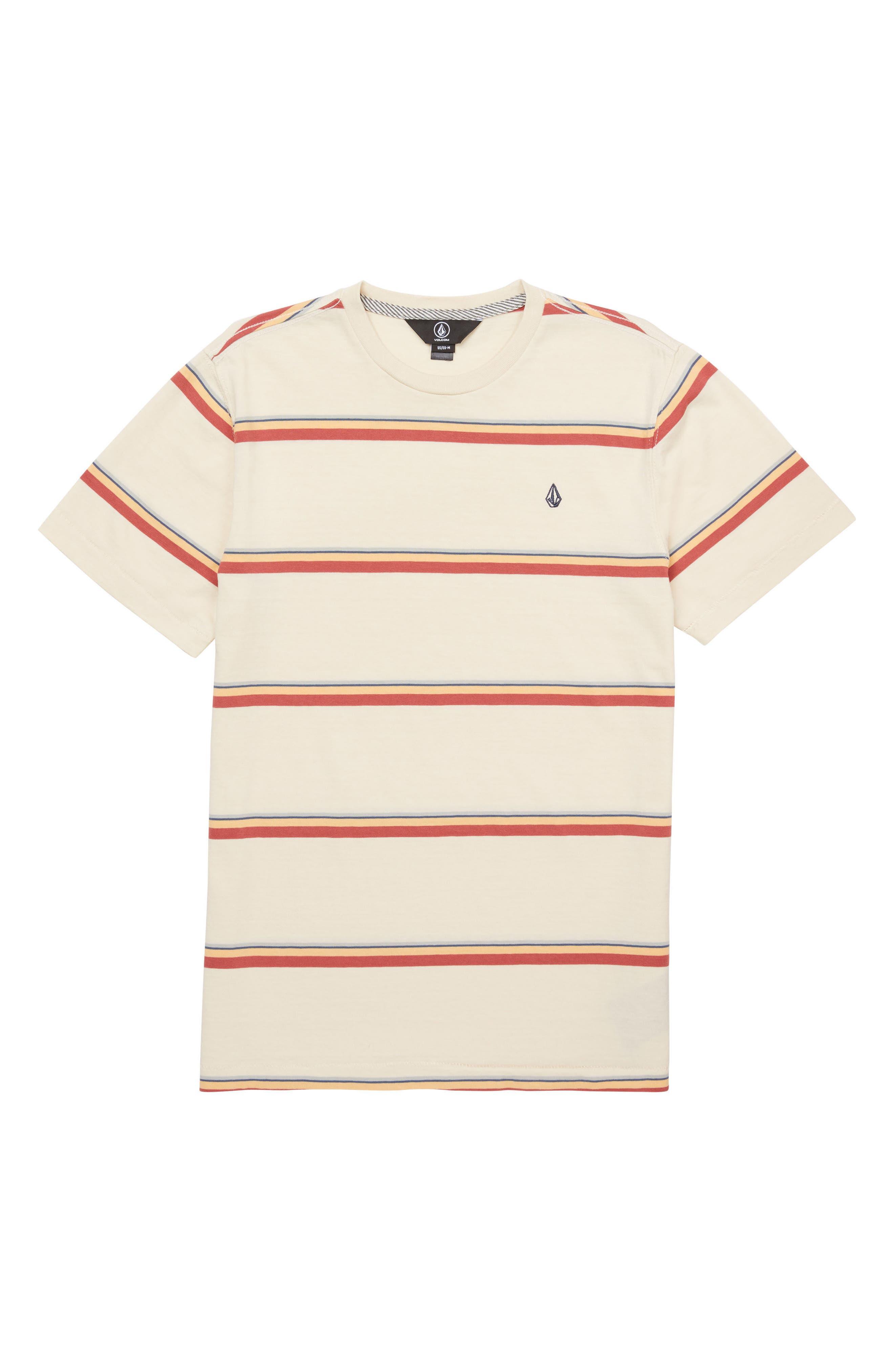 Sheldon Stripe Crewneck T-Shirt,                         Main,                         color, White Flash