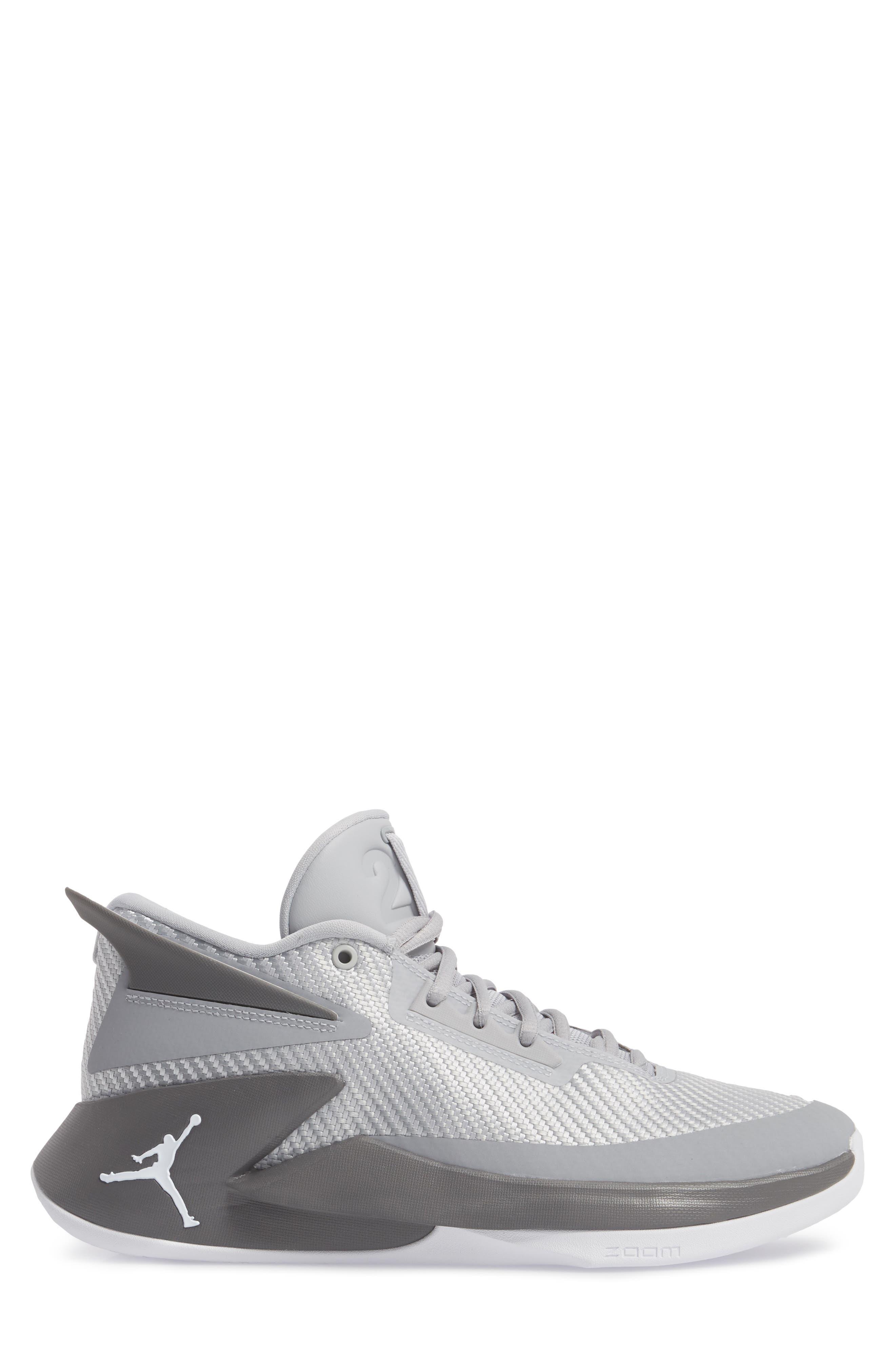 Jordan Fly Lockdown Sneaker,                             Alternate thumbnail 3, color,                             Wolf Grey/ White/ Dark Grey