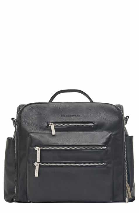 The Honest Company Cross Country Faux Leather Diaper Bag