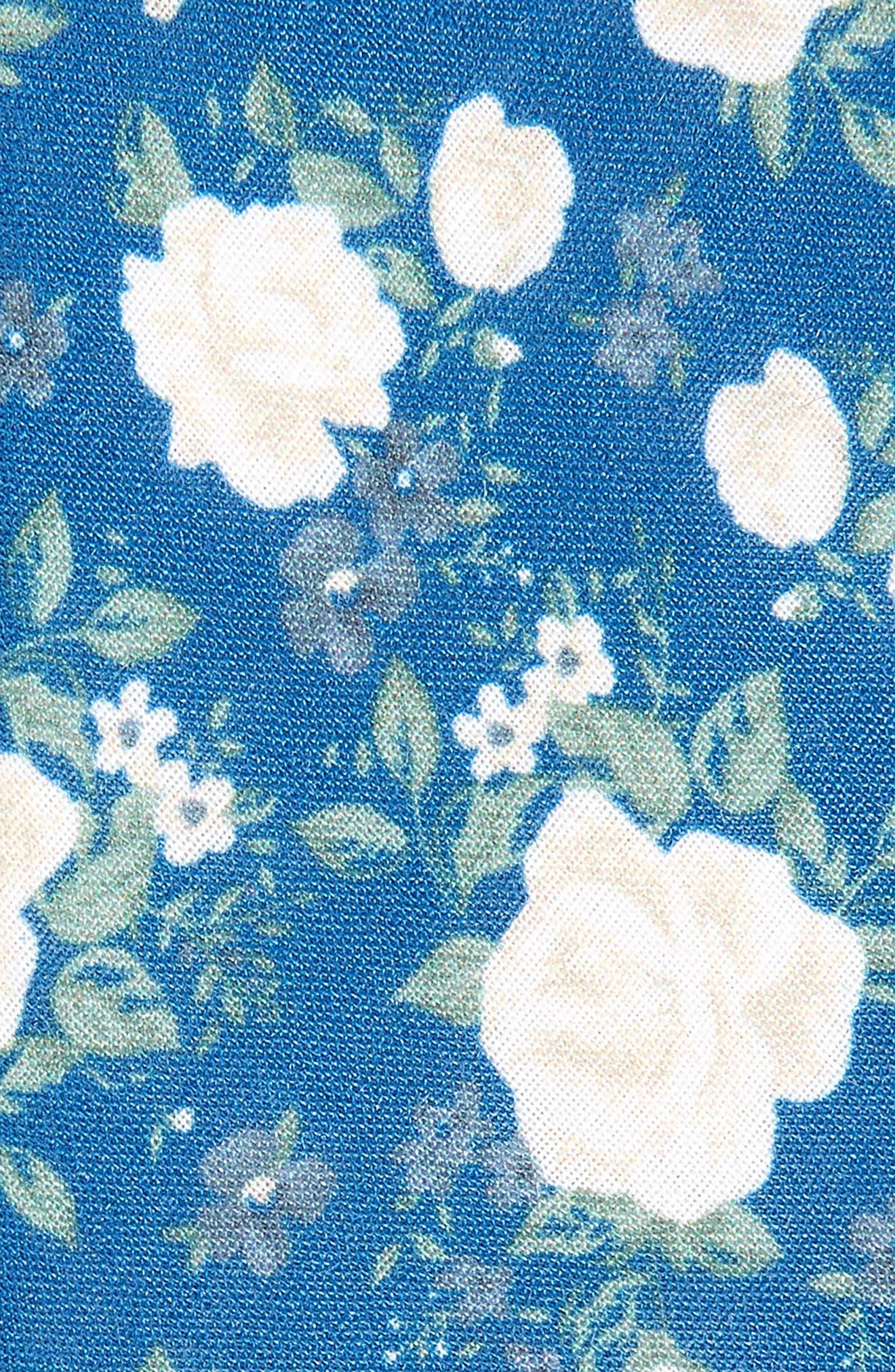 Hodgkiss Flowers Linen Tie,                             Alternate thumbnail 2, color,                             Royal Blue