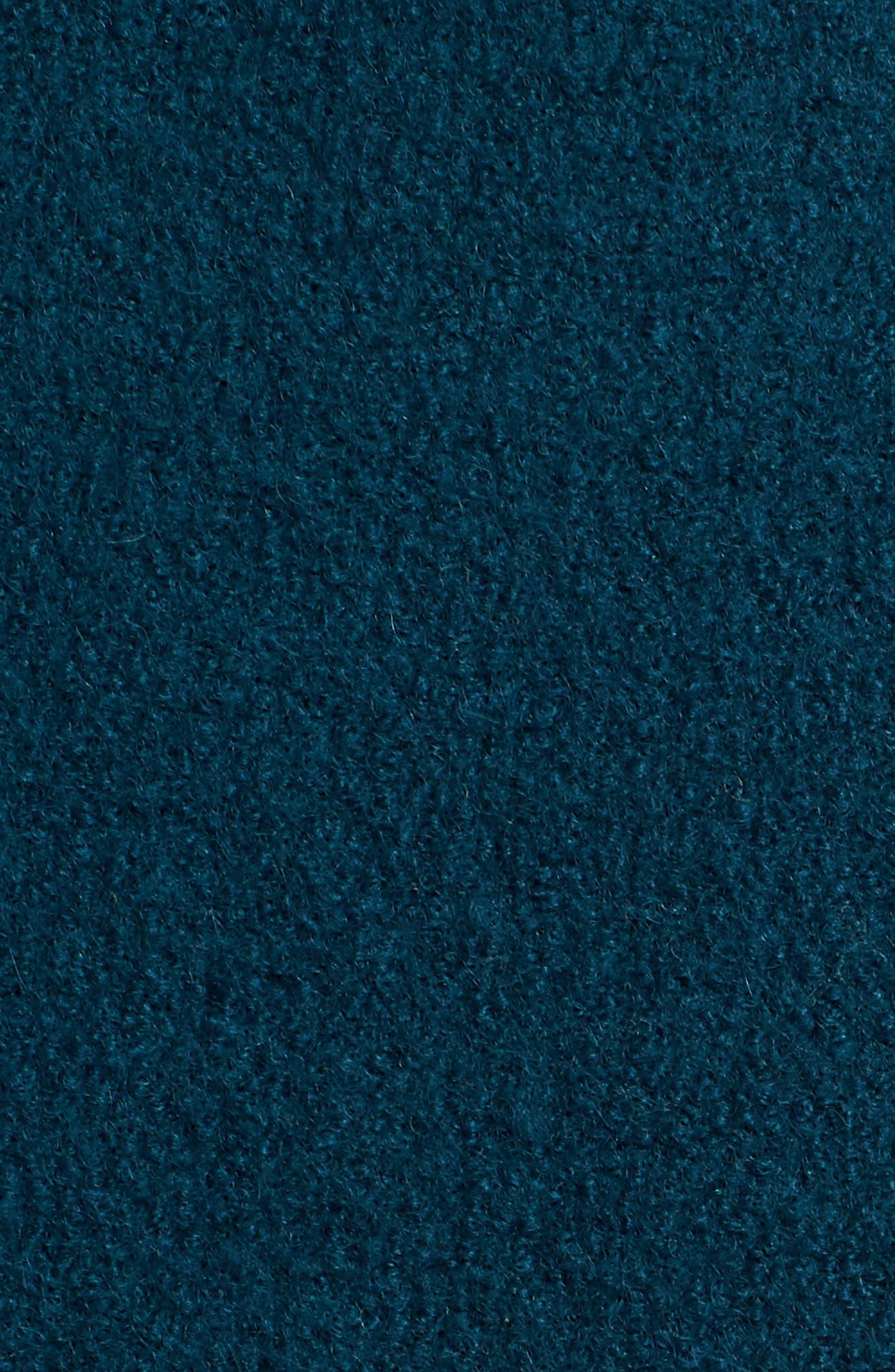 Olga Boiled Wool Topcoat,                             Alternate thumbnail 6, color,                             Winter Pine