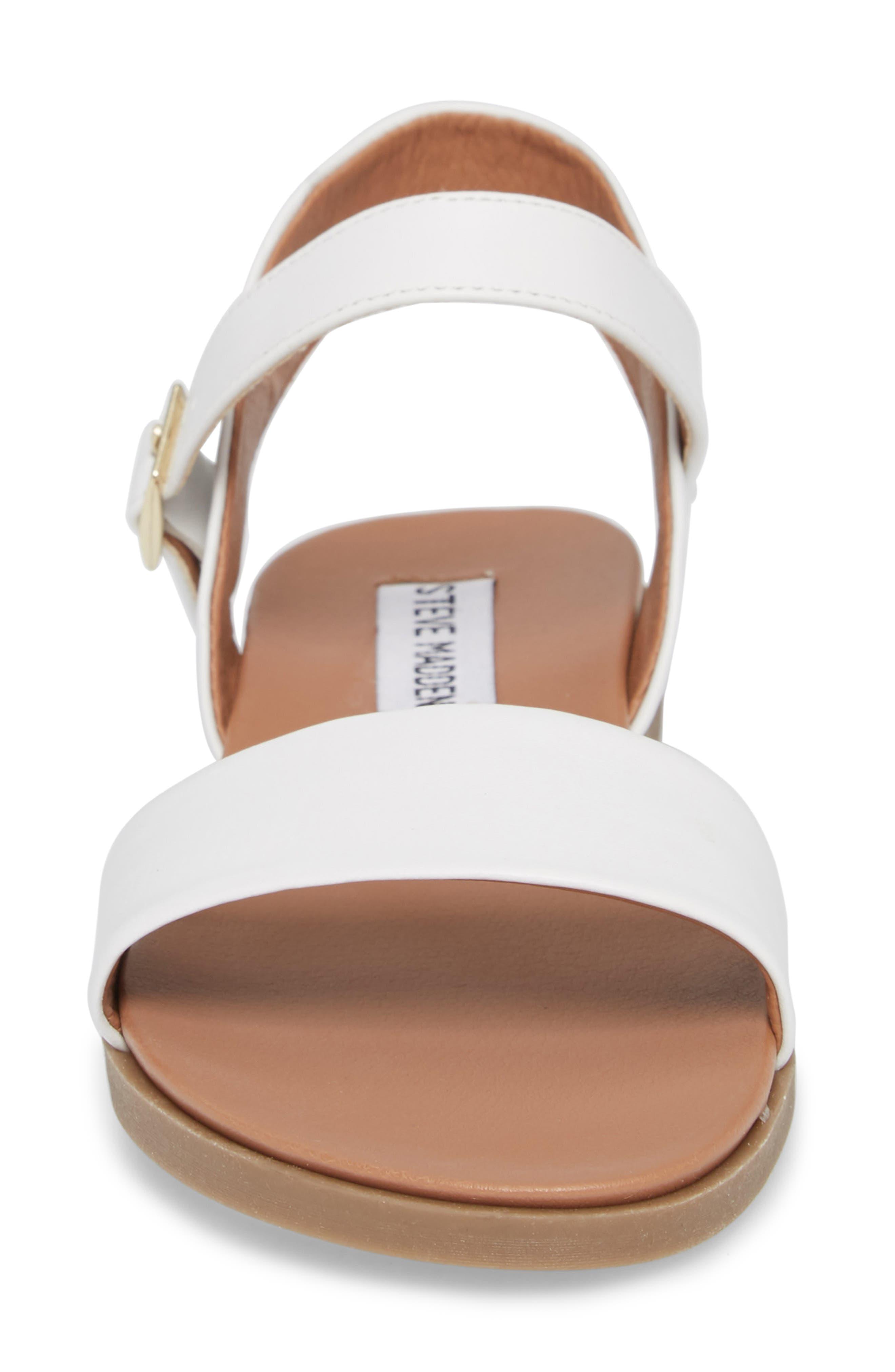 Dina Sandal,                             Alternate thumbnail 4, color,                             White Leather