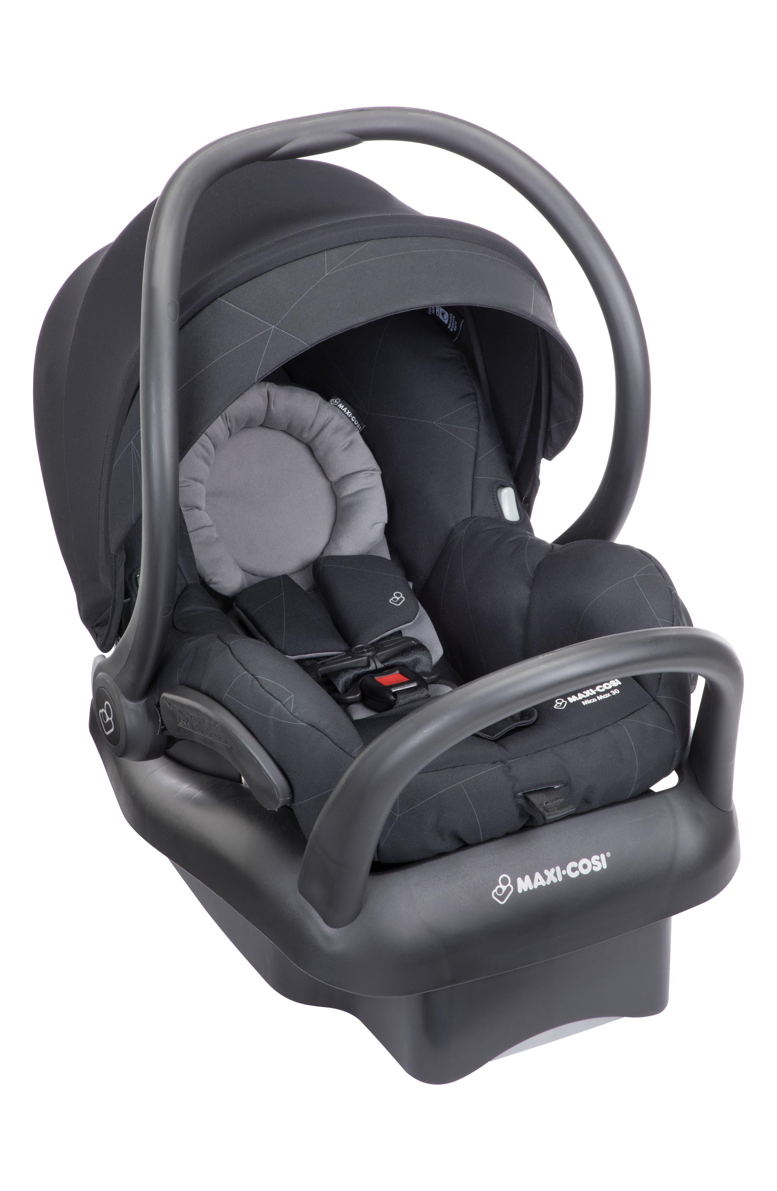 Mico Max 30 Infant Car Seat,                             Main thumbnail 1, color,                             Black Print