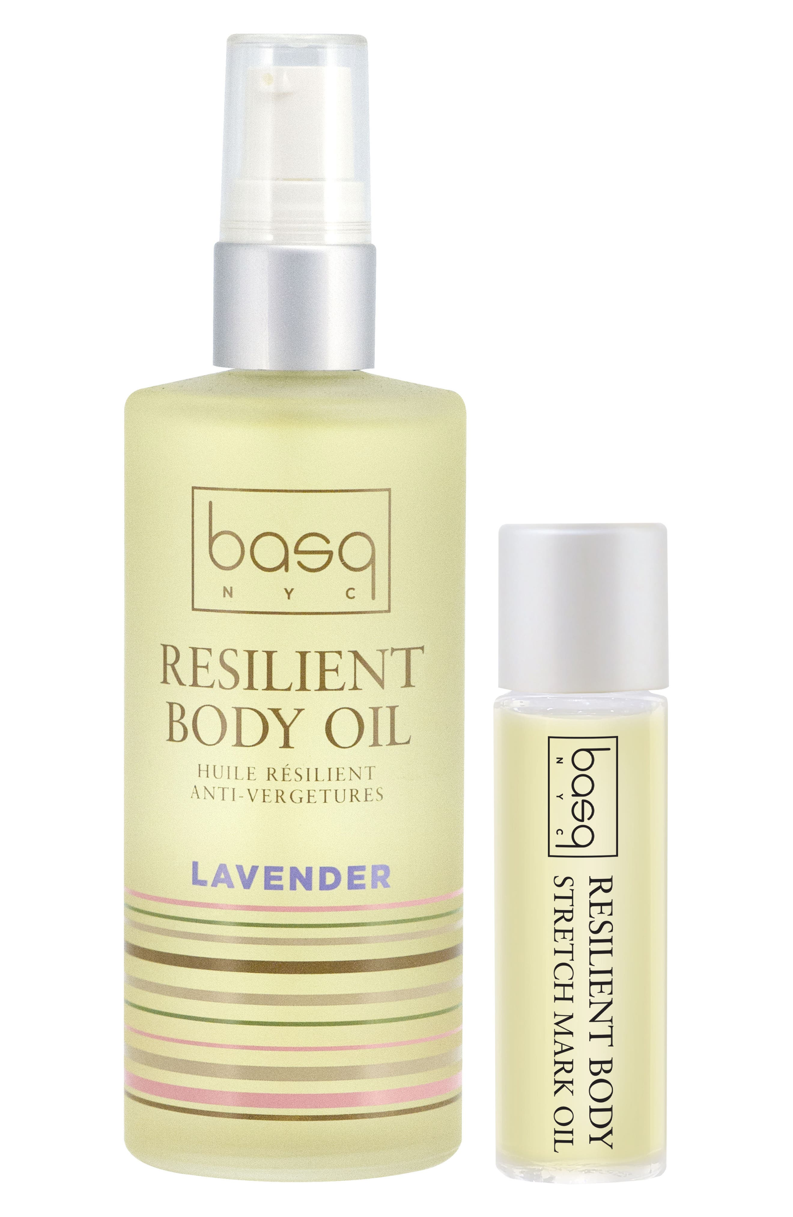Lavender Resilient Body Stretch Mark Oil Duo,                         Main,                         color, White