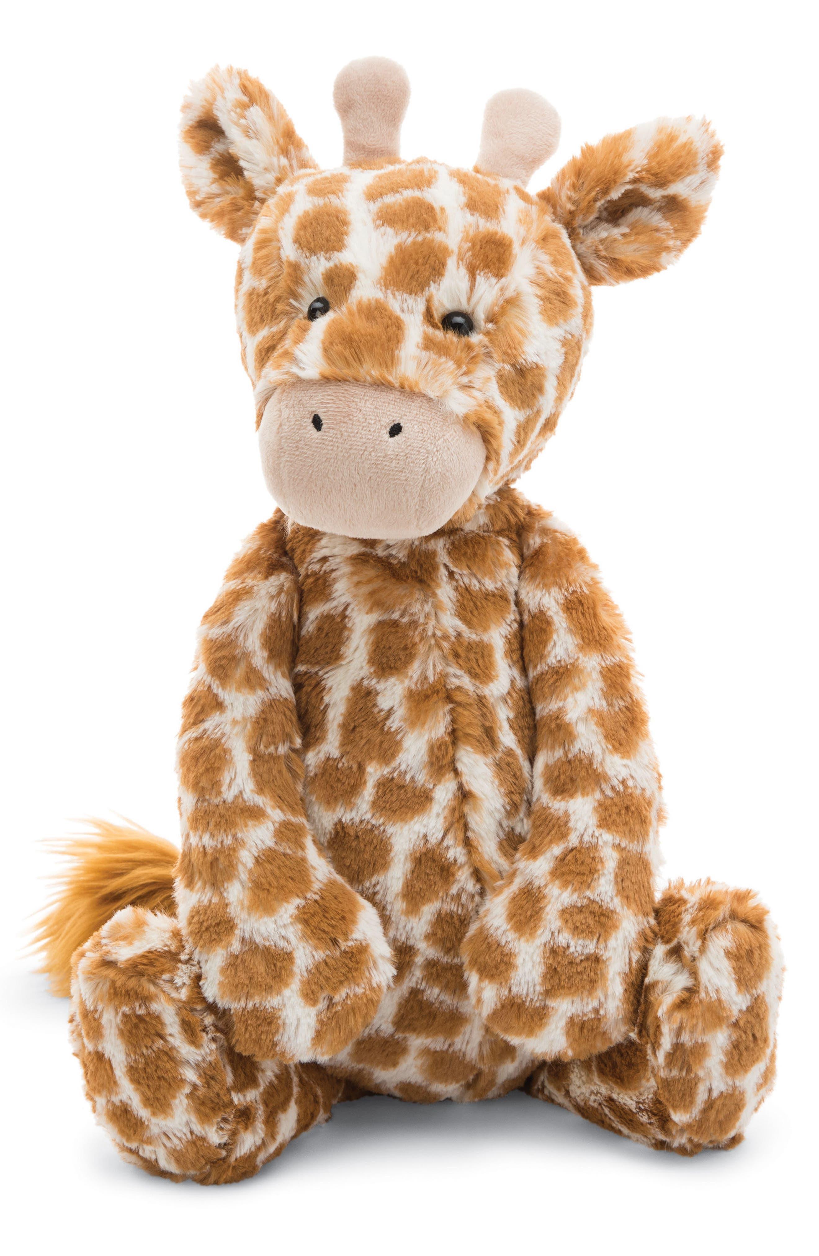 Large Bashful Giraffe Stuffed Animal,                             Main thumbnail 1, color,                             Brown / Cream