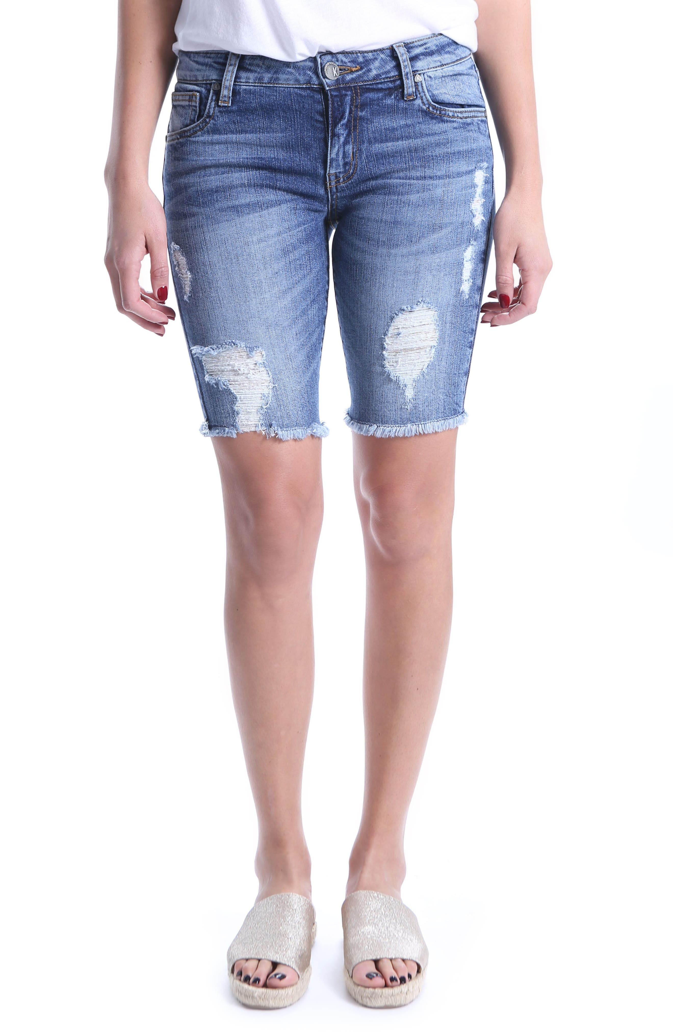 KUT from the Kloth Sophie Bermuda Shorts (Comrade)