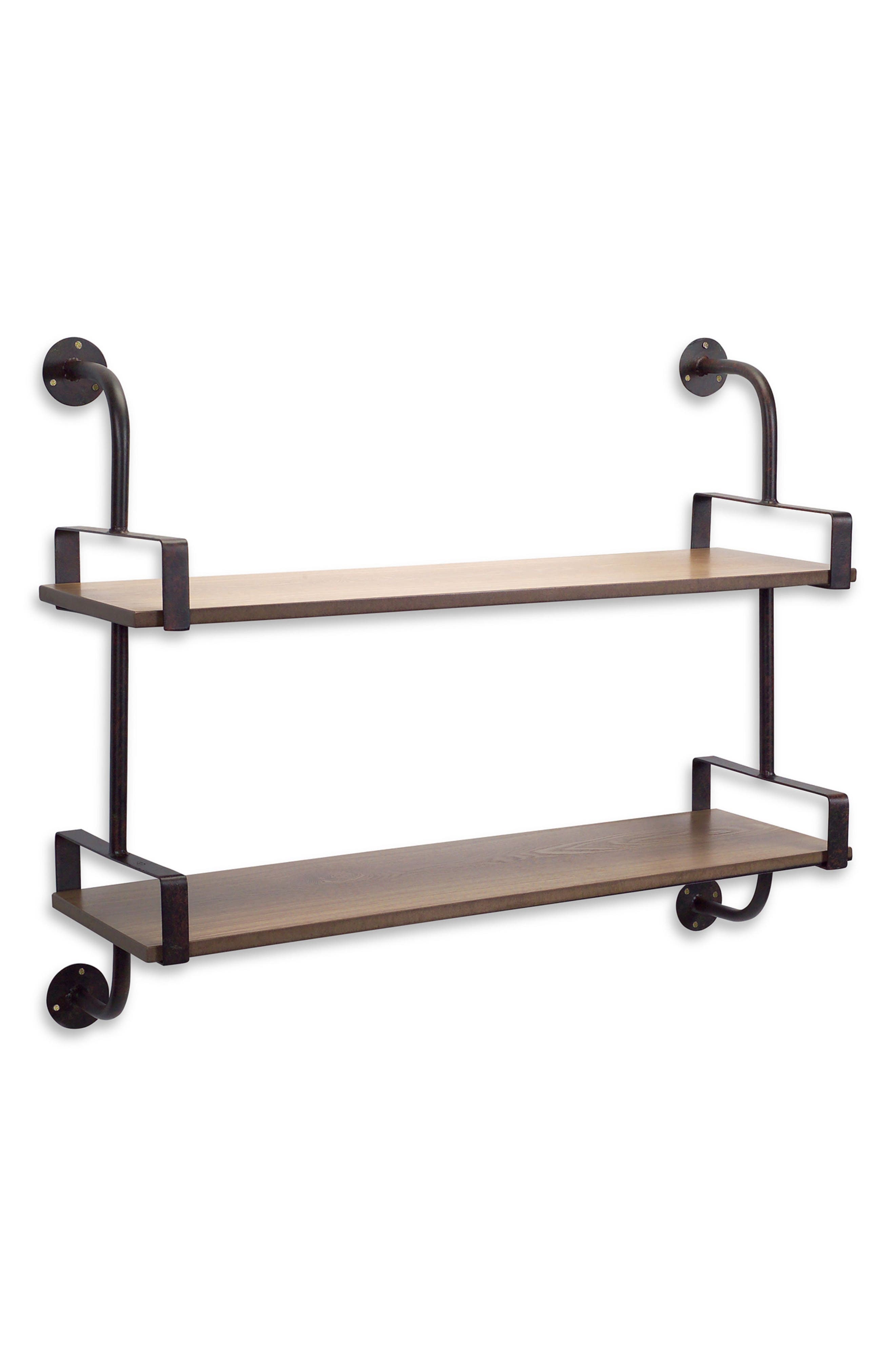 Melrose Gifts Double Shelf Wall Rack