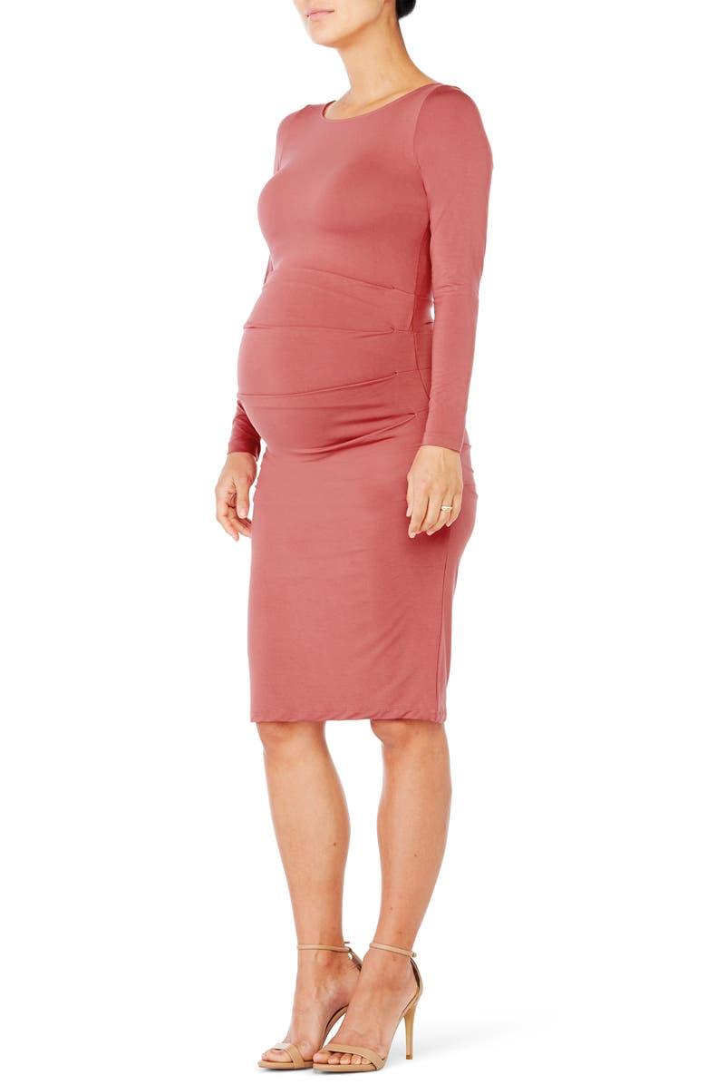 Shirred Maternity Dress