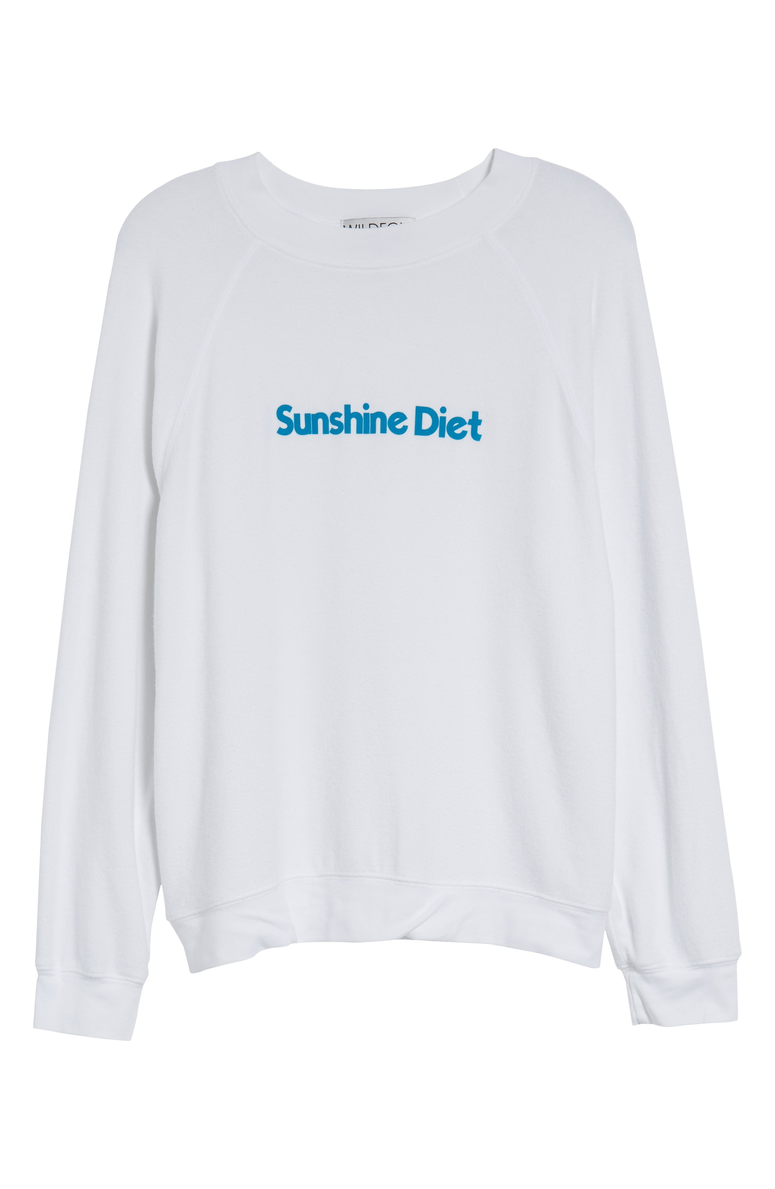Sunshine Diet Sommers Sweatshirt,                             Alternate thumbnail 7, color,                             Clean White