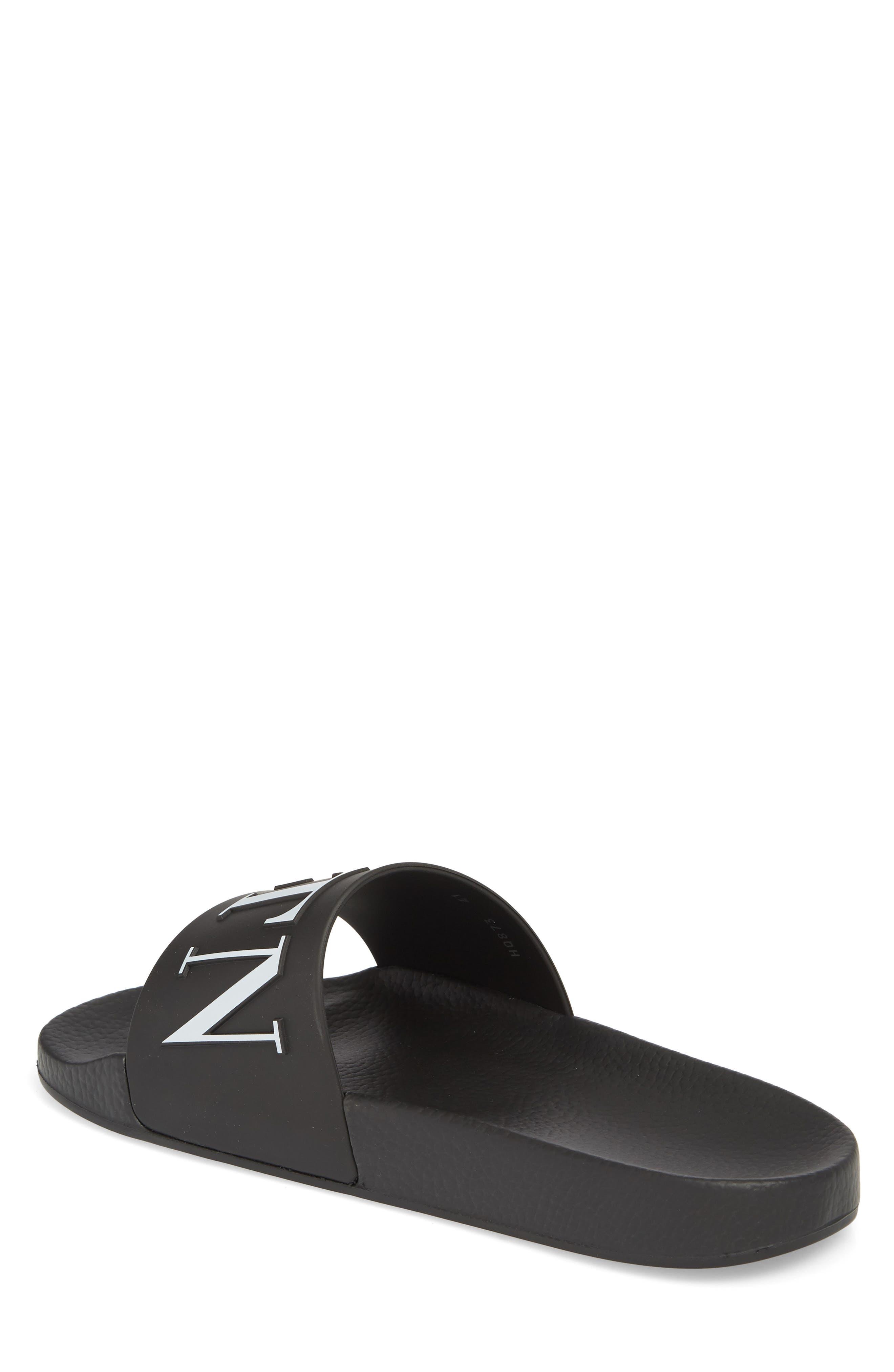 Slide Sandal,                             Alternate thumbnail 2, color,                             Black/ White