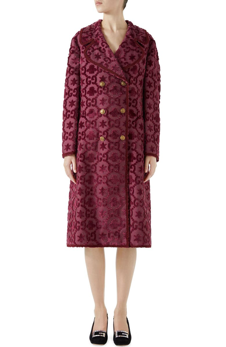 GG Velvet Martingale Coat