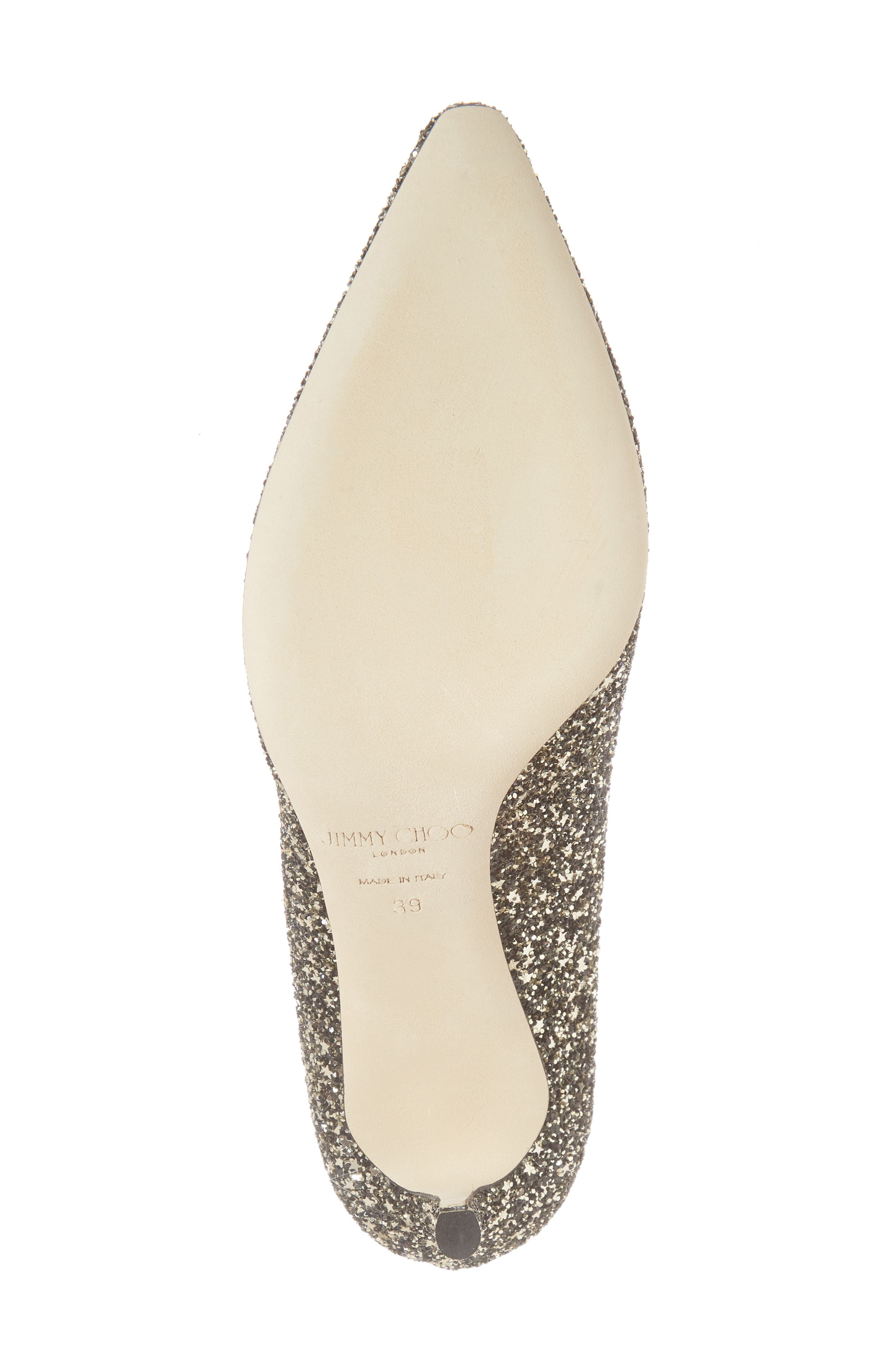 Romy Glitter Pointy Toe Pump,                             Alternate thumbnail 6, color,                             Gold Mix