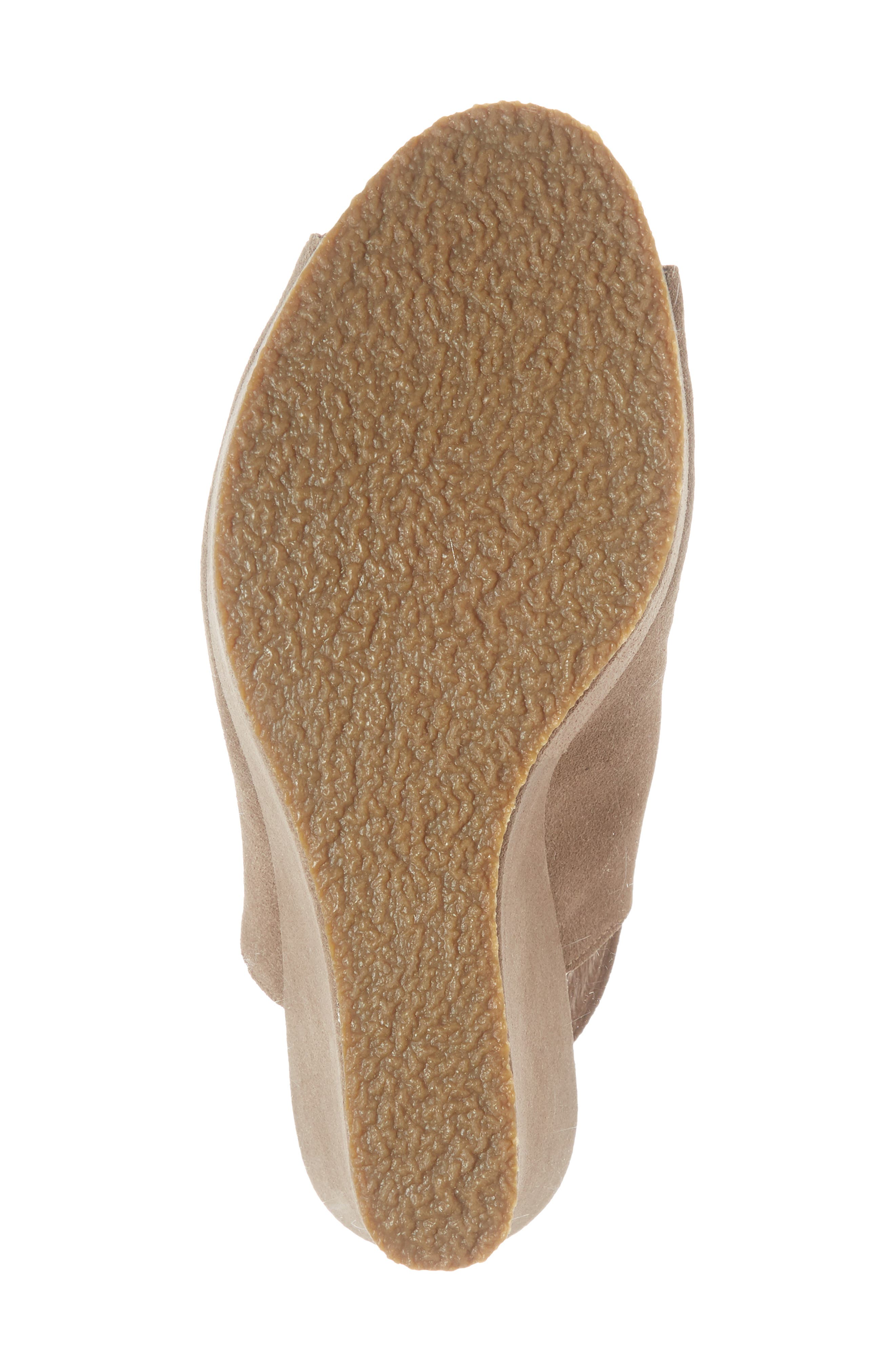 'Wellesley' Sandal,                             Alternate thumbnail 6, color,                             Taupe Suede