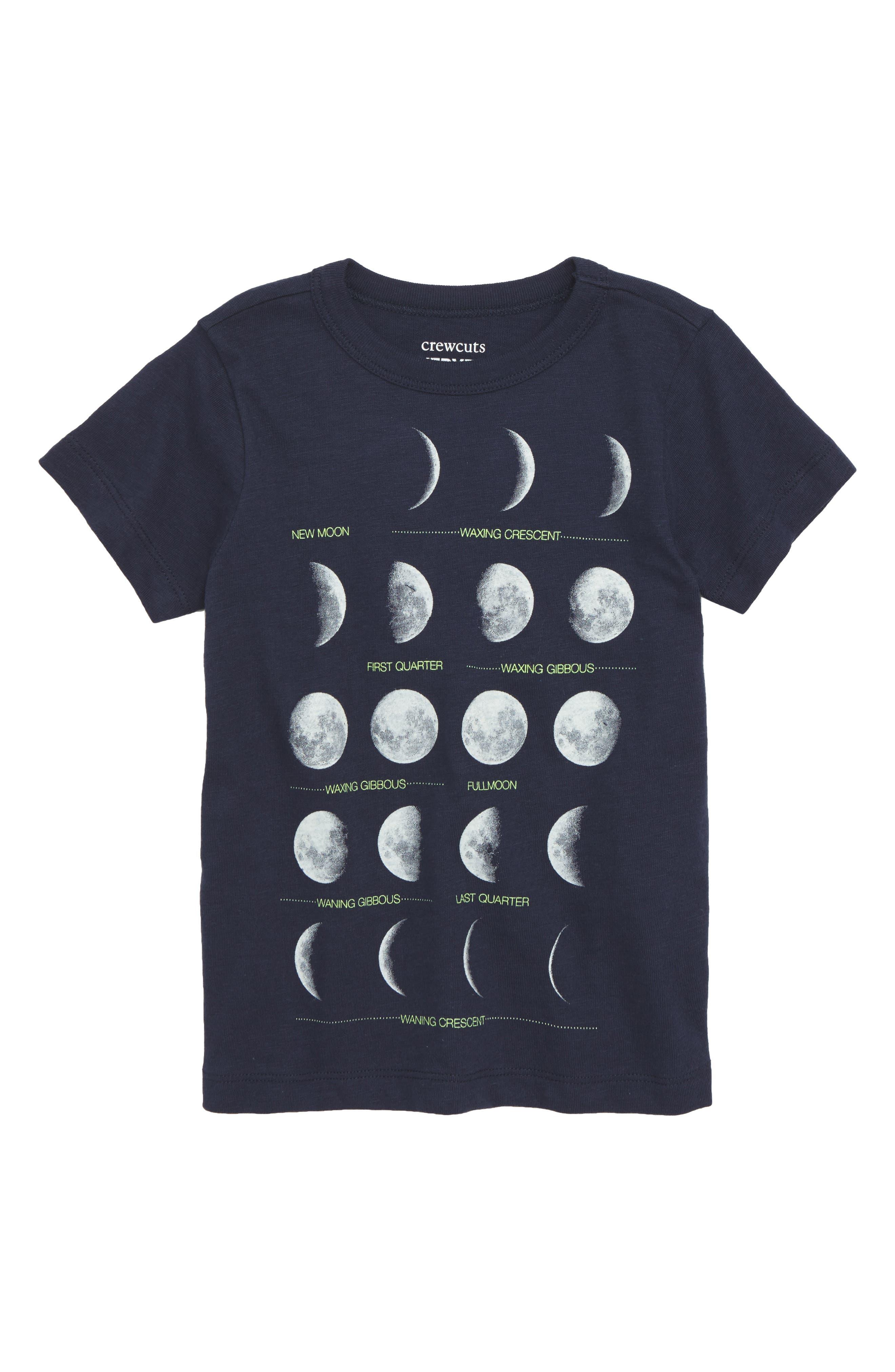 Moons Graphic T-Shirt,                             Main thumbnail 1, color,                             Navy