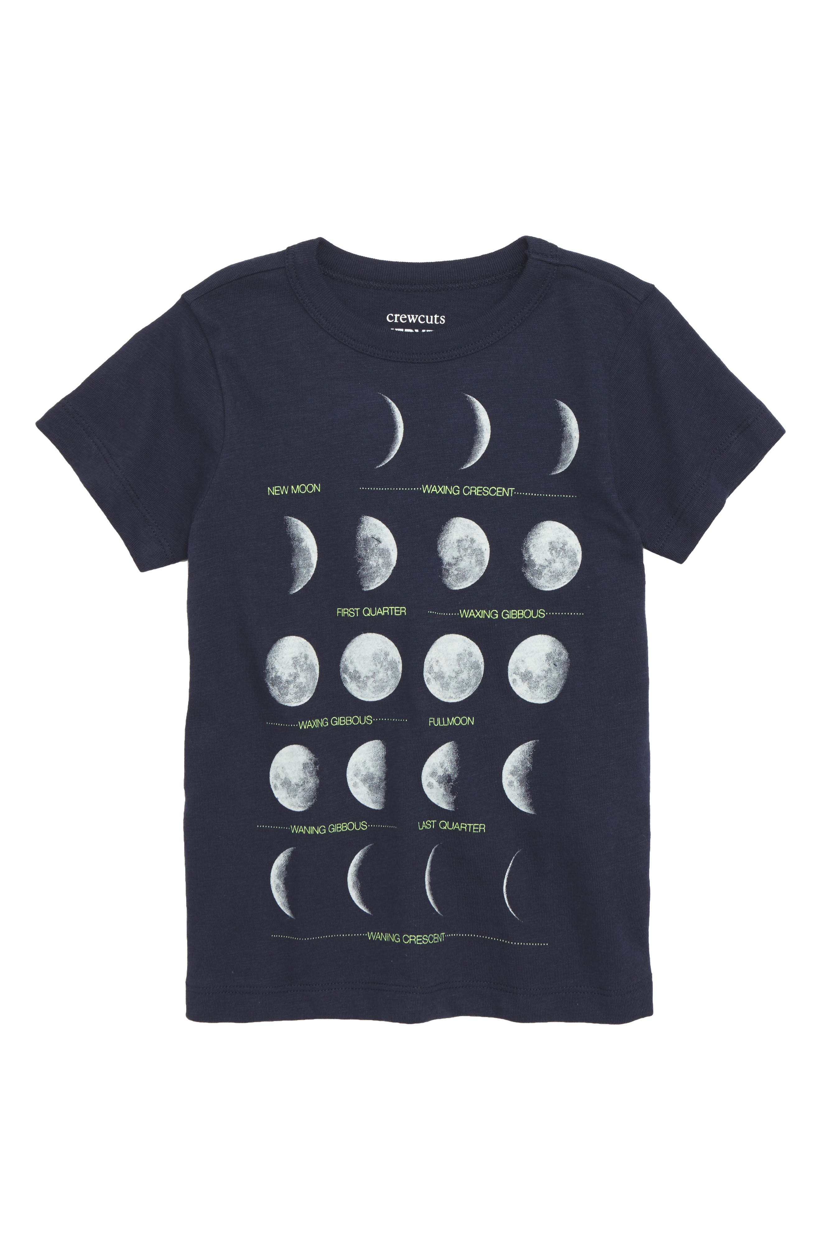 Moons Graphic T-Shirt,                         Main,                         color, Navy