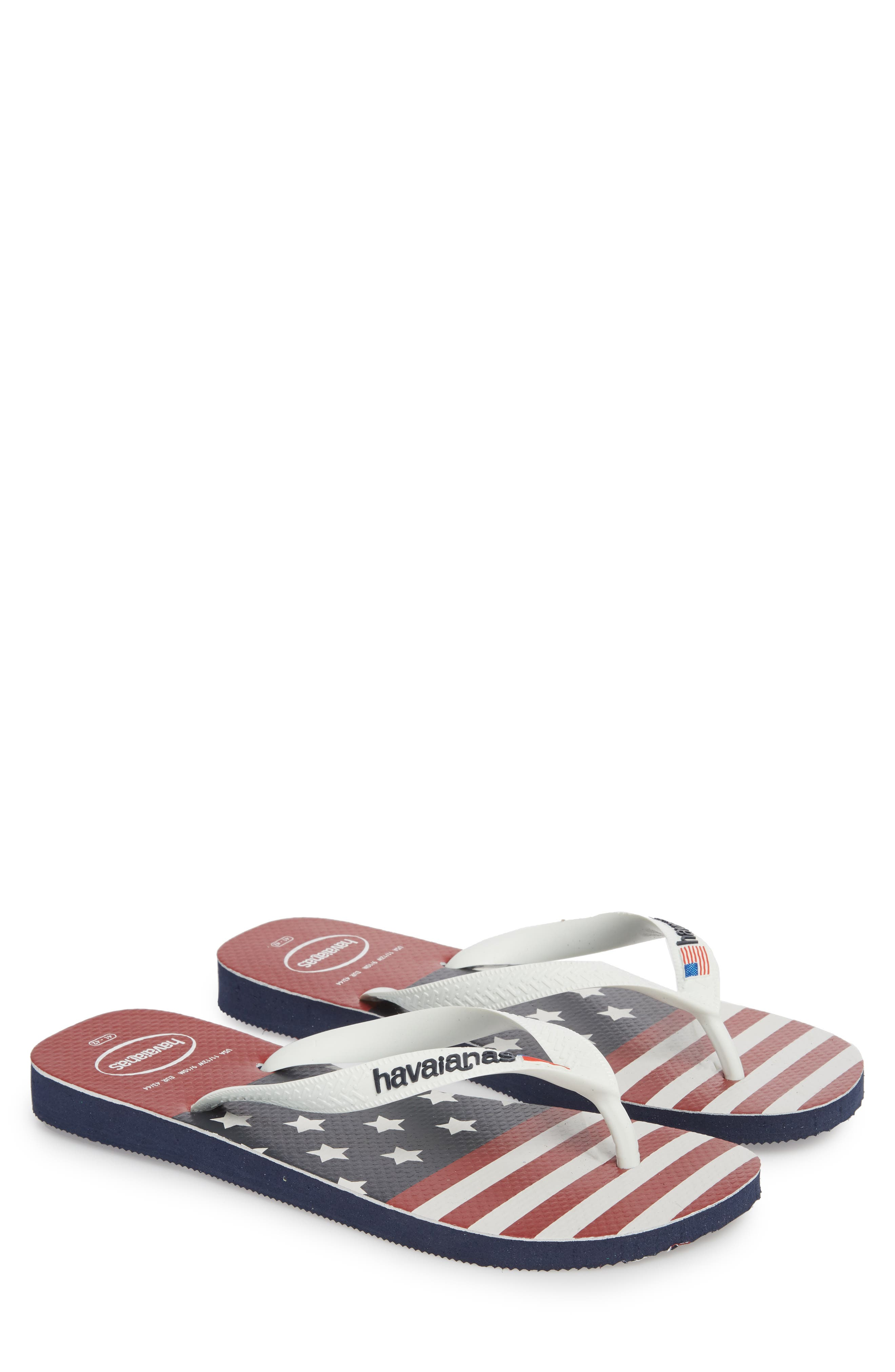 USA Stars & Stripes Flip Flop,                             Alternate thumbnail 2, color,                             Navy Blue