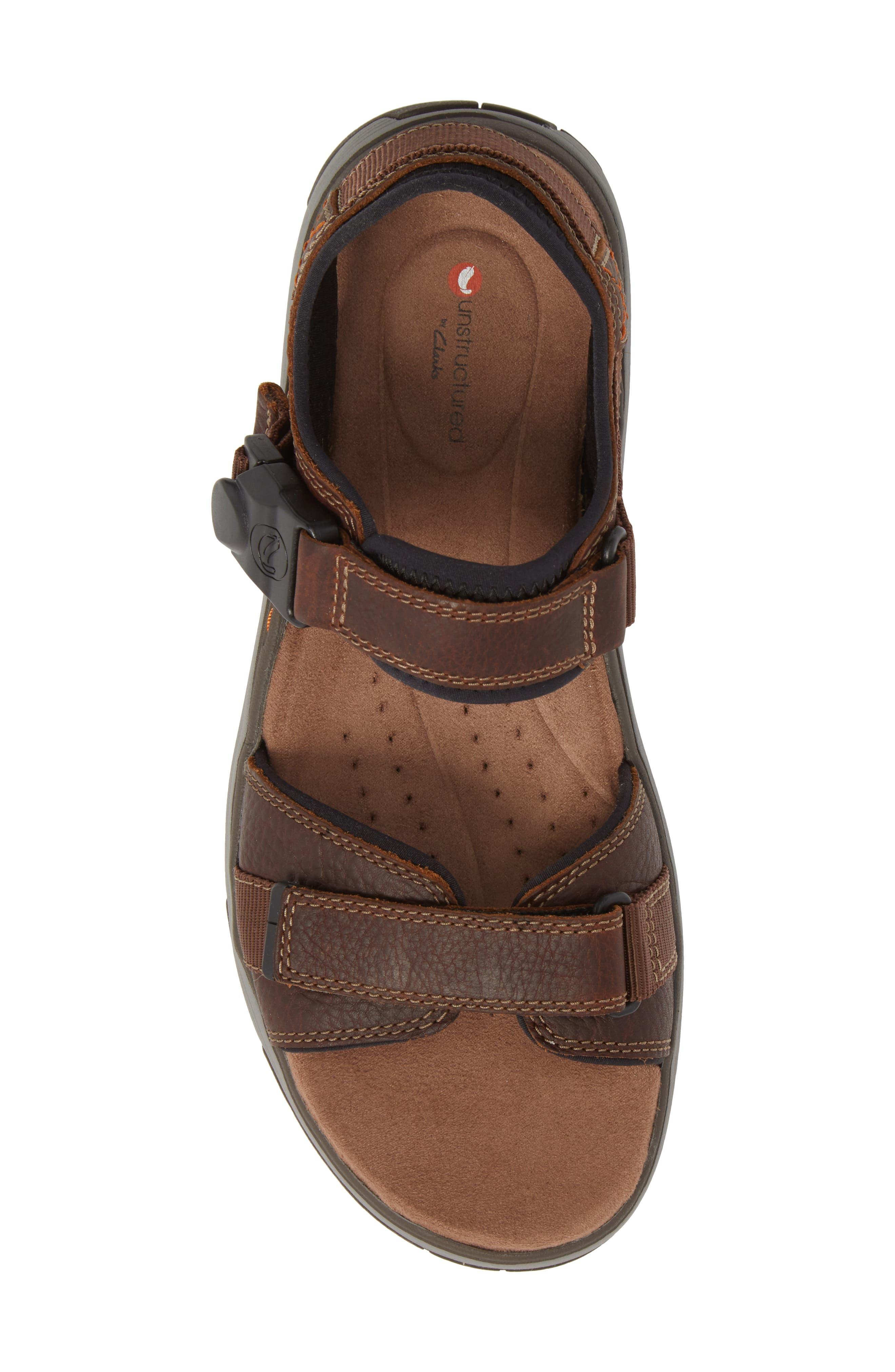 Un Trek Part Sport Sandal,                             Alternate thumbnail 5, color,                             Dark Tan Leather