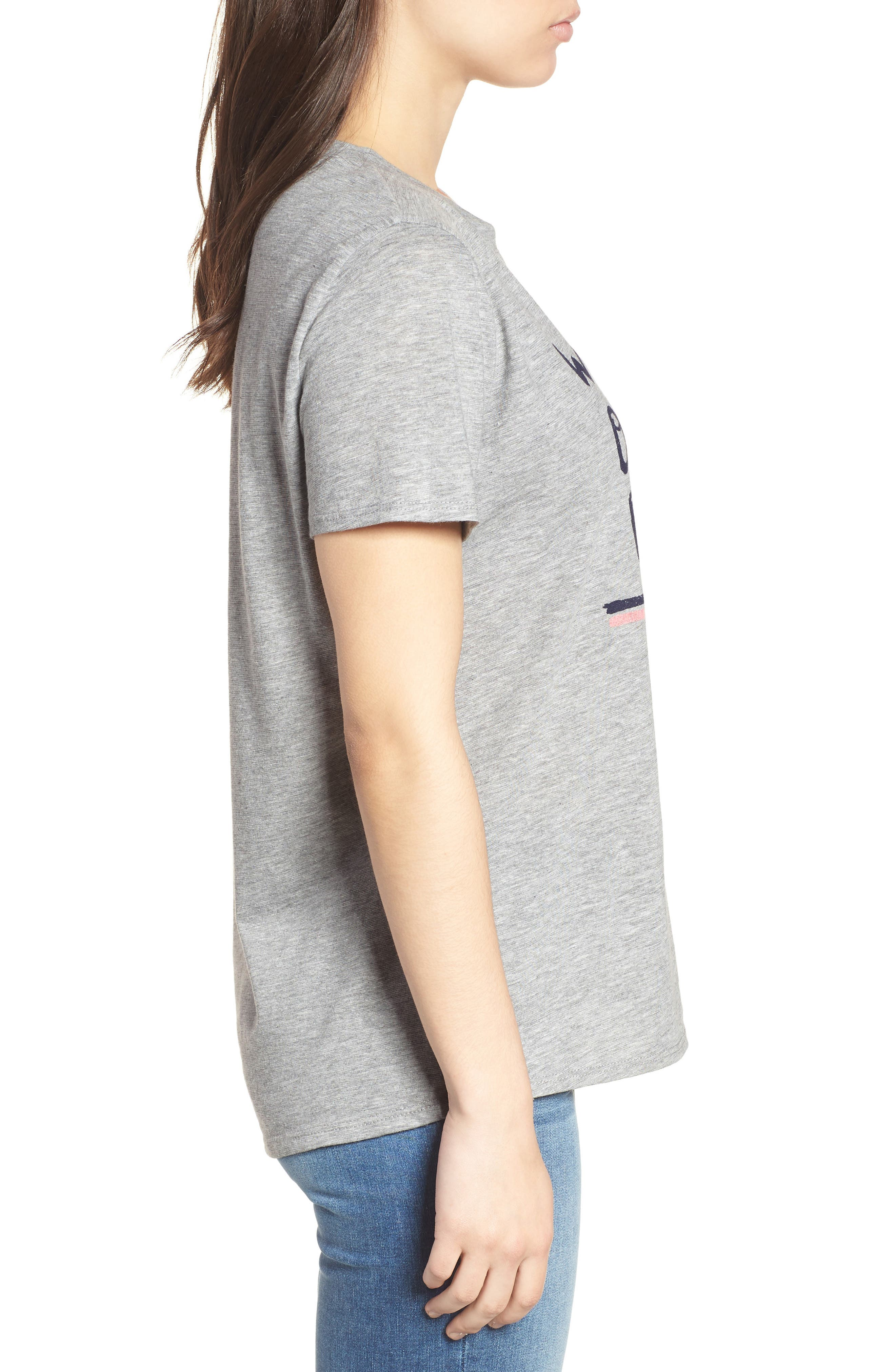 Off Duty Graphic Tee,                             Alternate thumbnail 3, color,                             Grey Heather