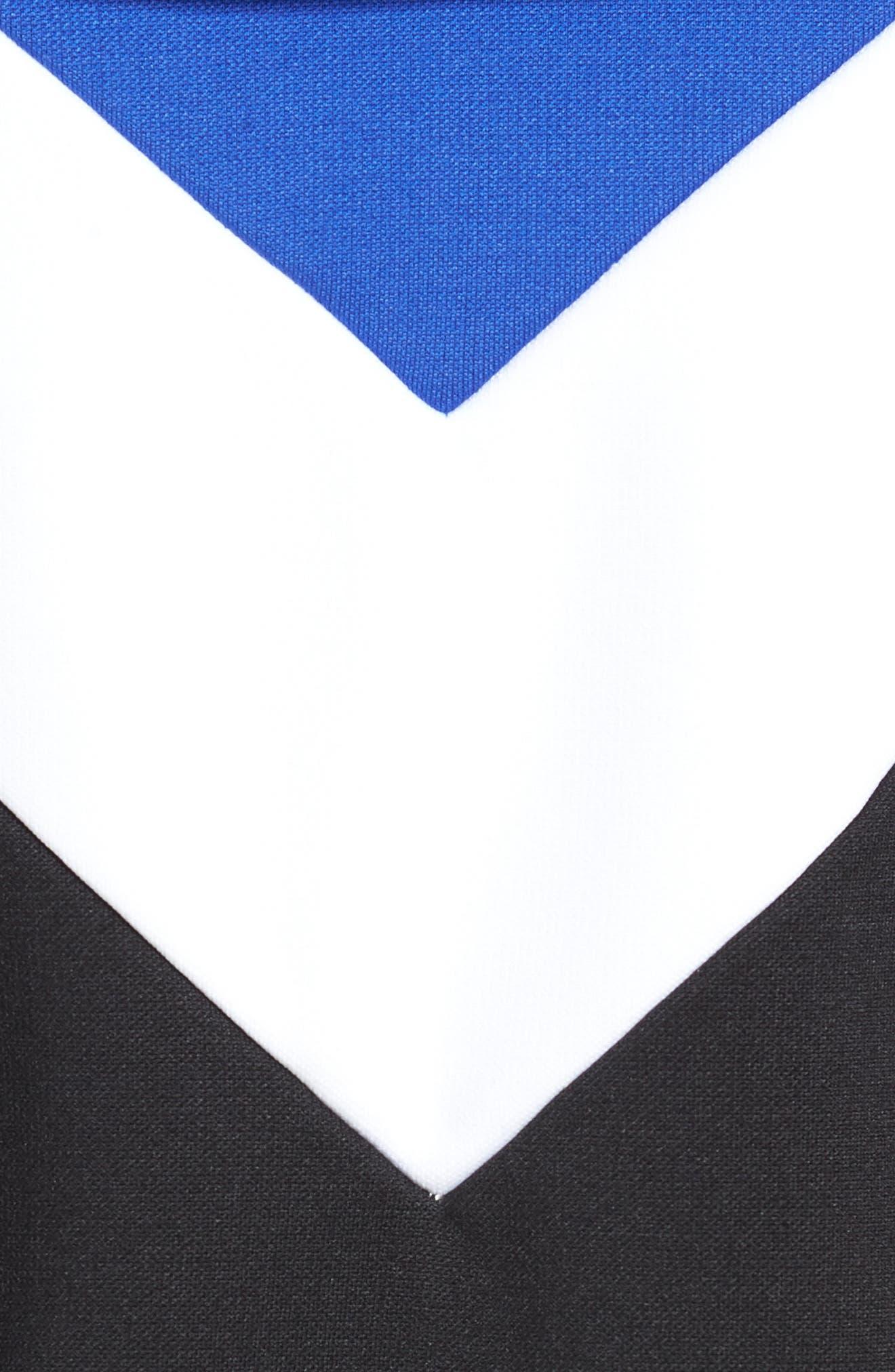 Colorblock Full Zip Hoodie,                             Alternate thumbnail 5, color,                             Blue/ White/ Black