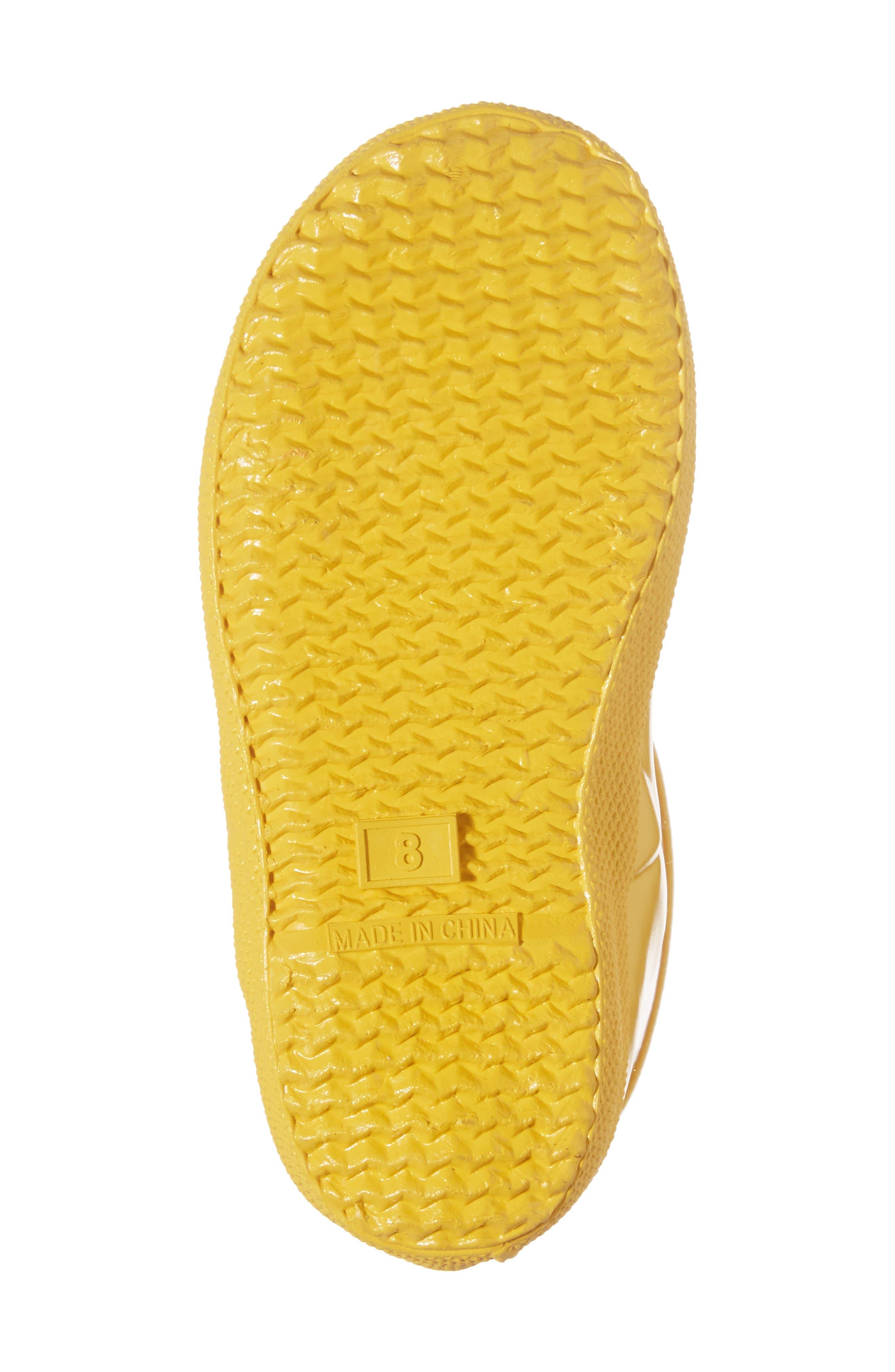 'First Gloss' Rain Boot,                             Alternate thumbnail 6, color,                             Yellow Gloss