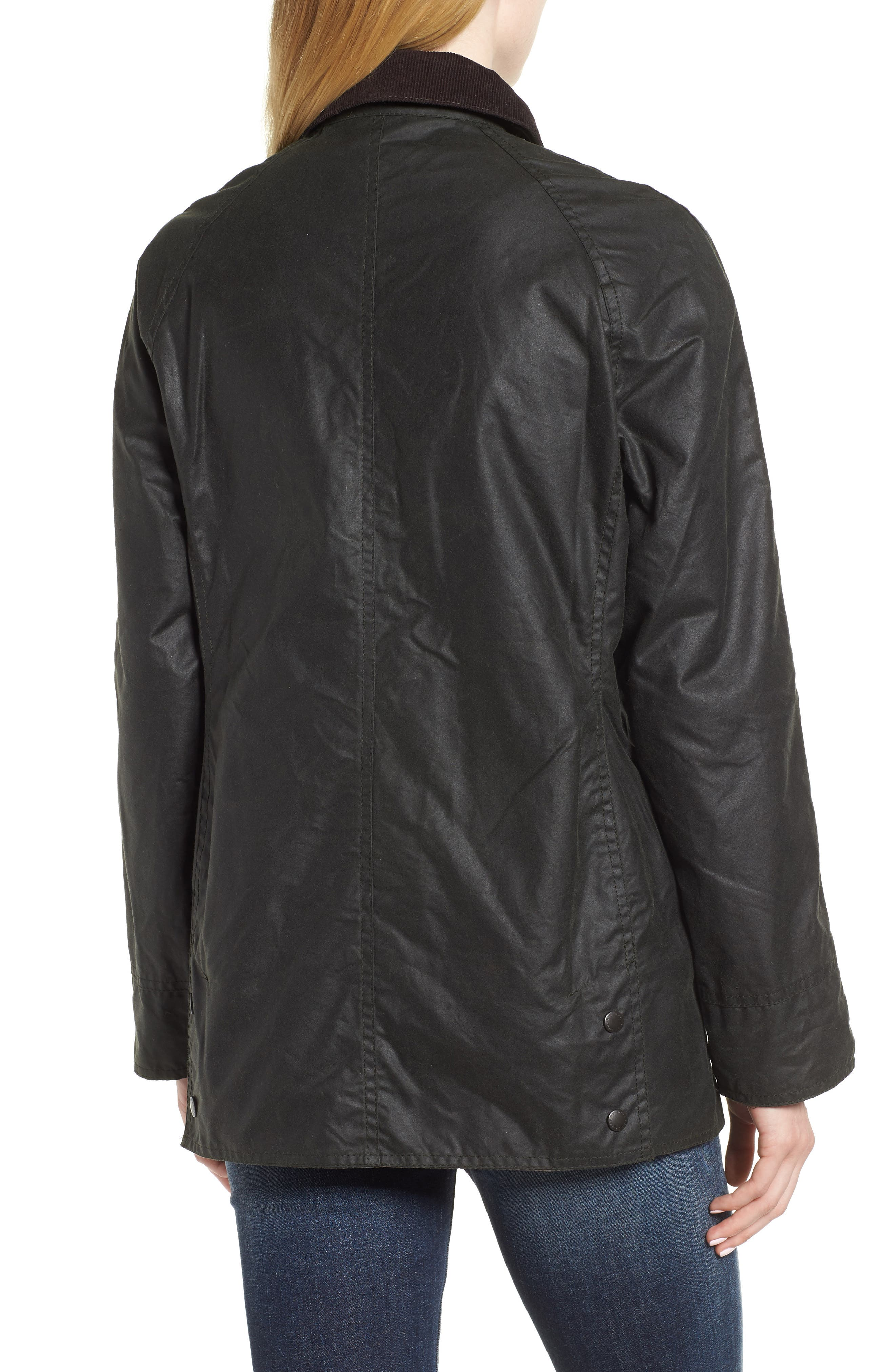 Beadnell Waxed Cotton Jacket,                             Alternate thumbnail 2, color,                             Sage