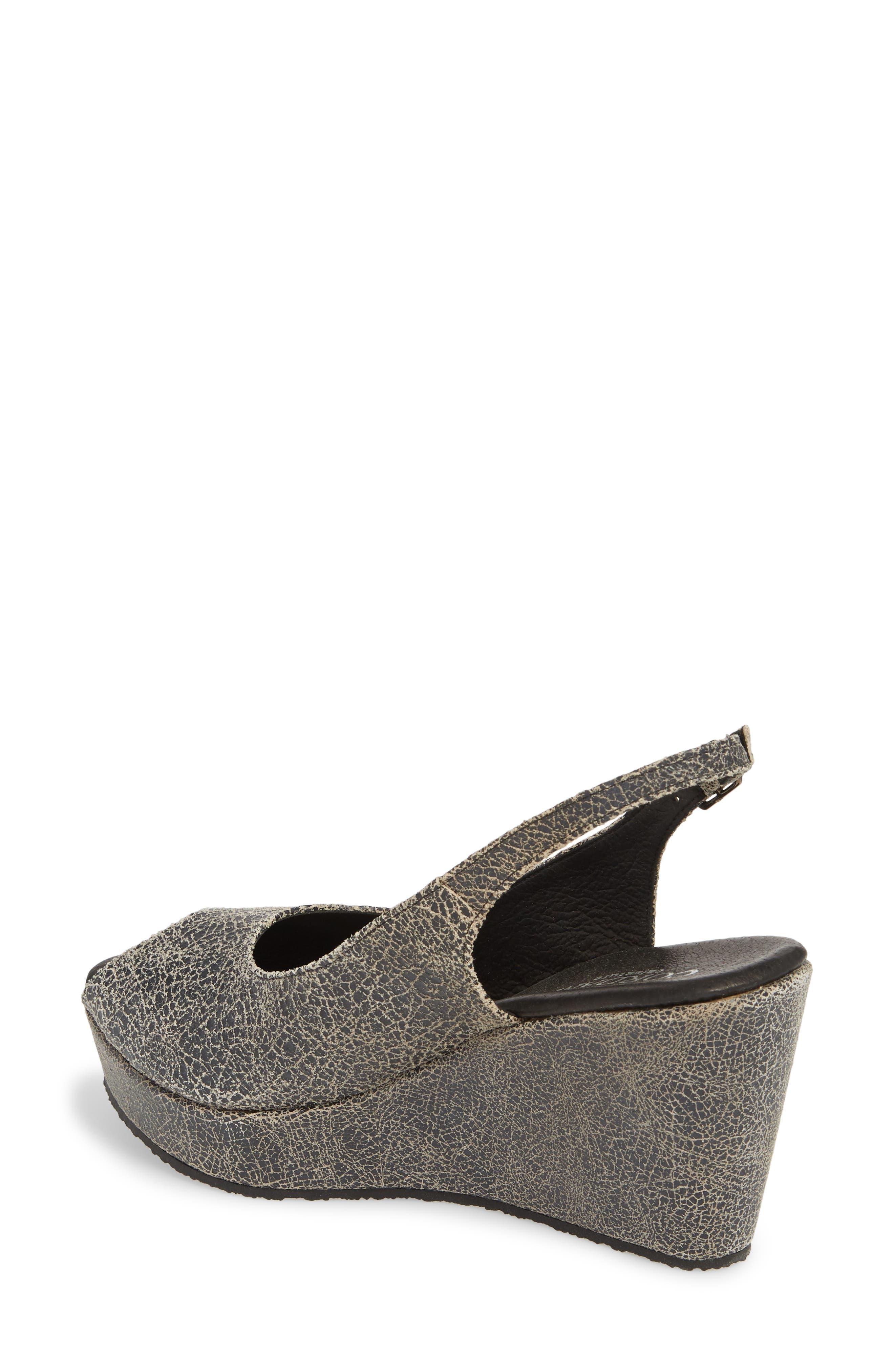 Fabrice Slingback Platform Sandal,                             Alternate thumbnail 2, color,                             Grey Crackle Leather